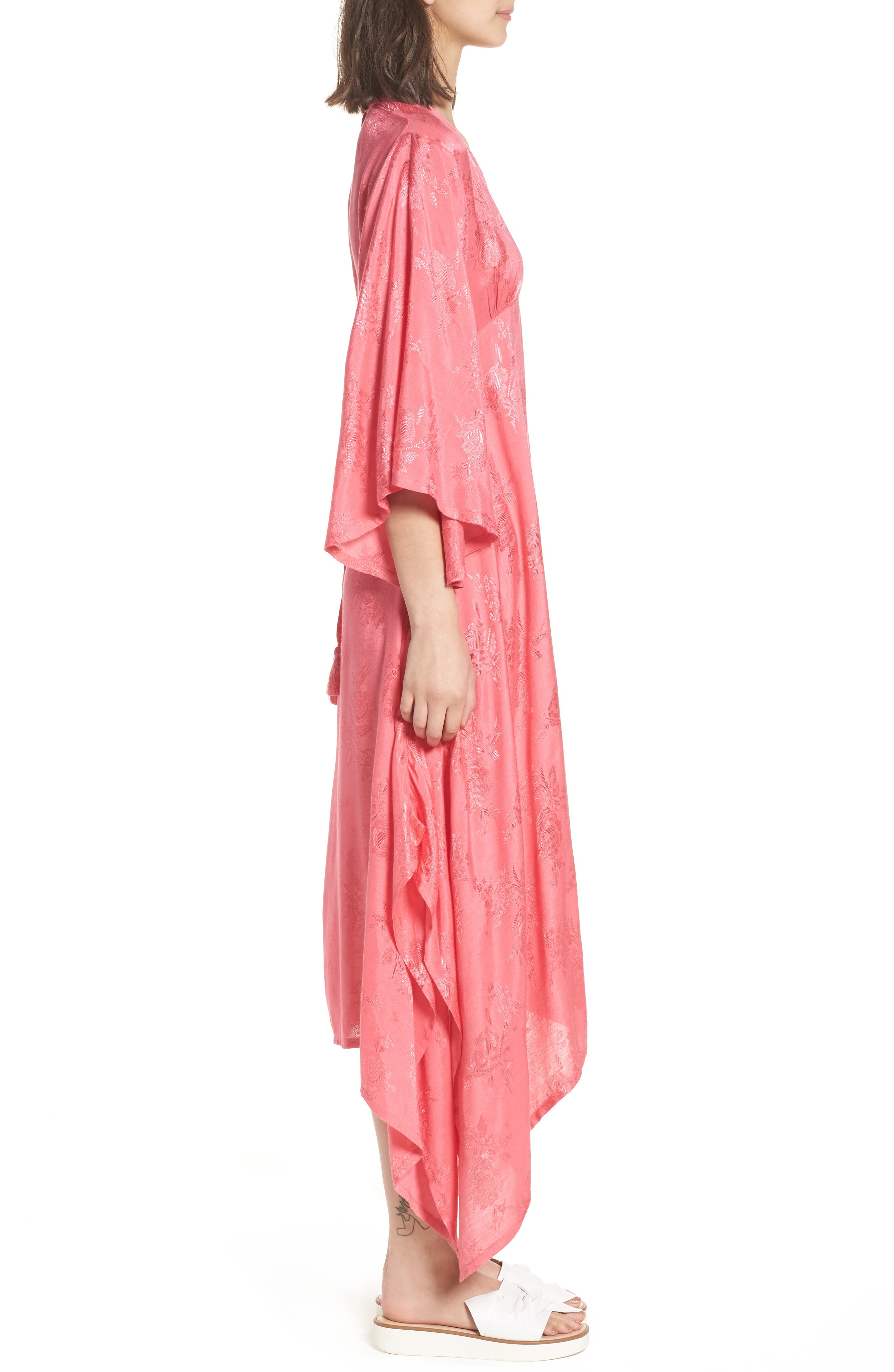 Florence Handkerchief Hem Dress,                             Alternate thumbnail 3, color,                             650