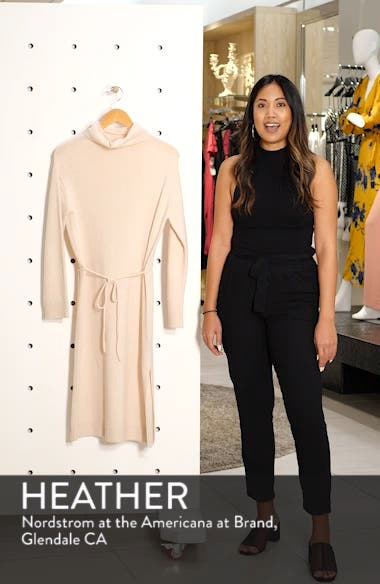 Funnel Neck Wool & Cashmere Sweater Dress, sales video thumbnail