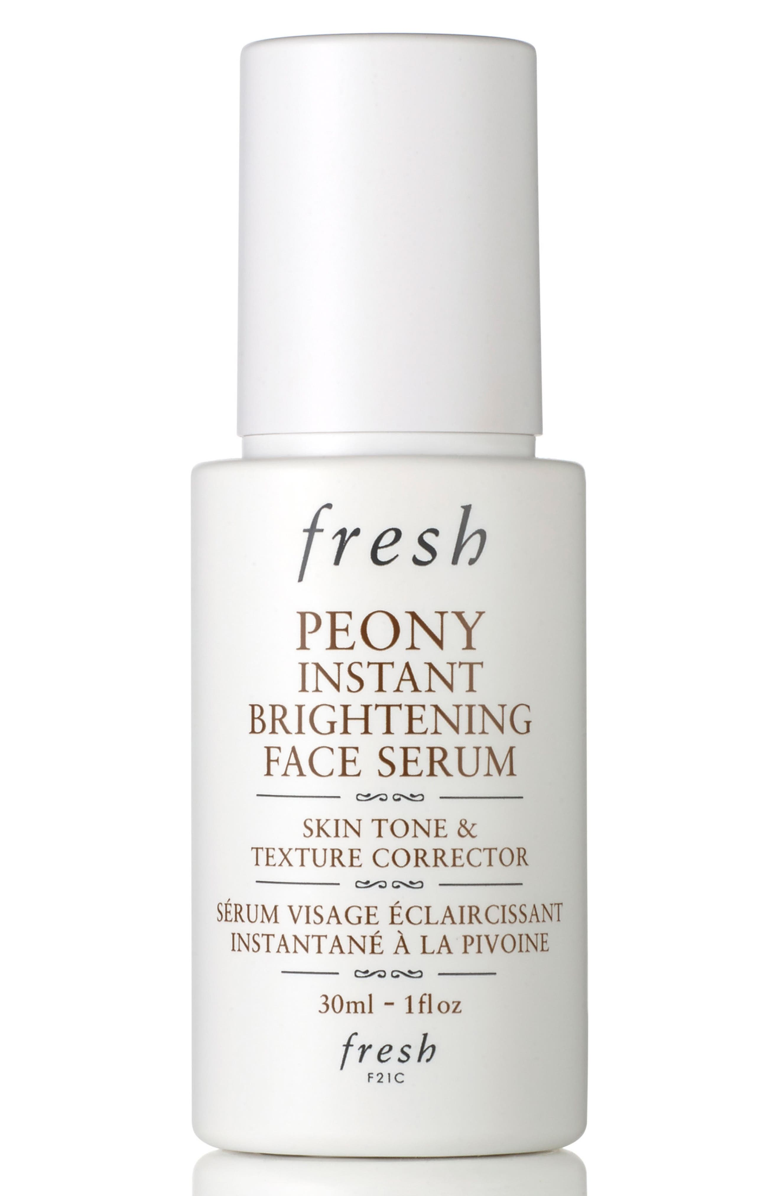 Peony Instant Brightening Face Serum,                             Main thumbnail 1, color,                             NO COLOR
