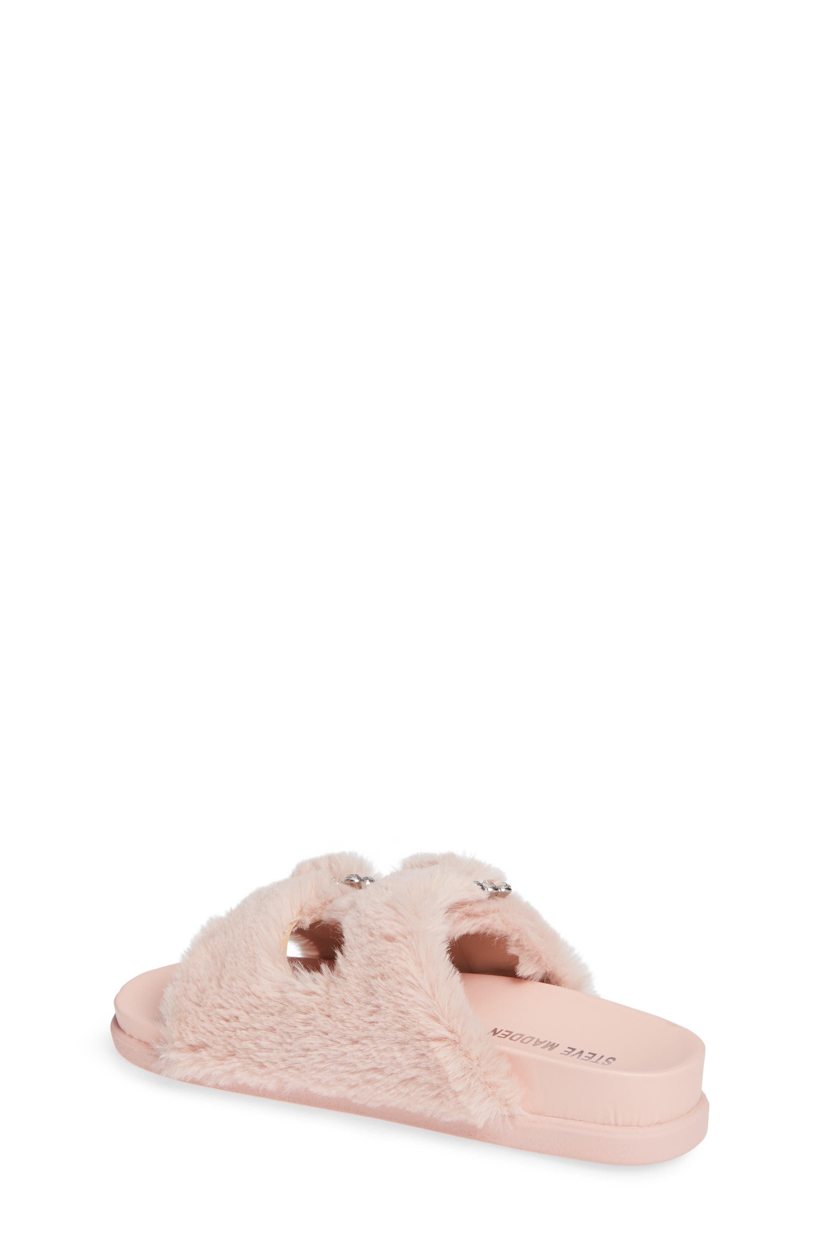 Faux Fur Slide Sandal,                             Alternate thumbnail 2, color,                             650
