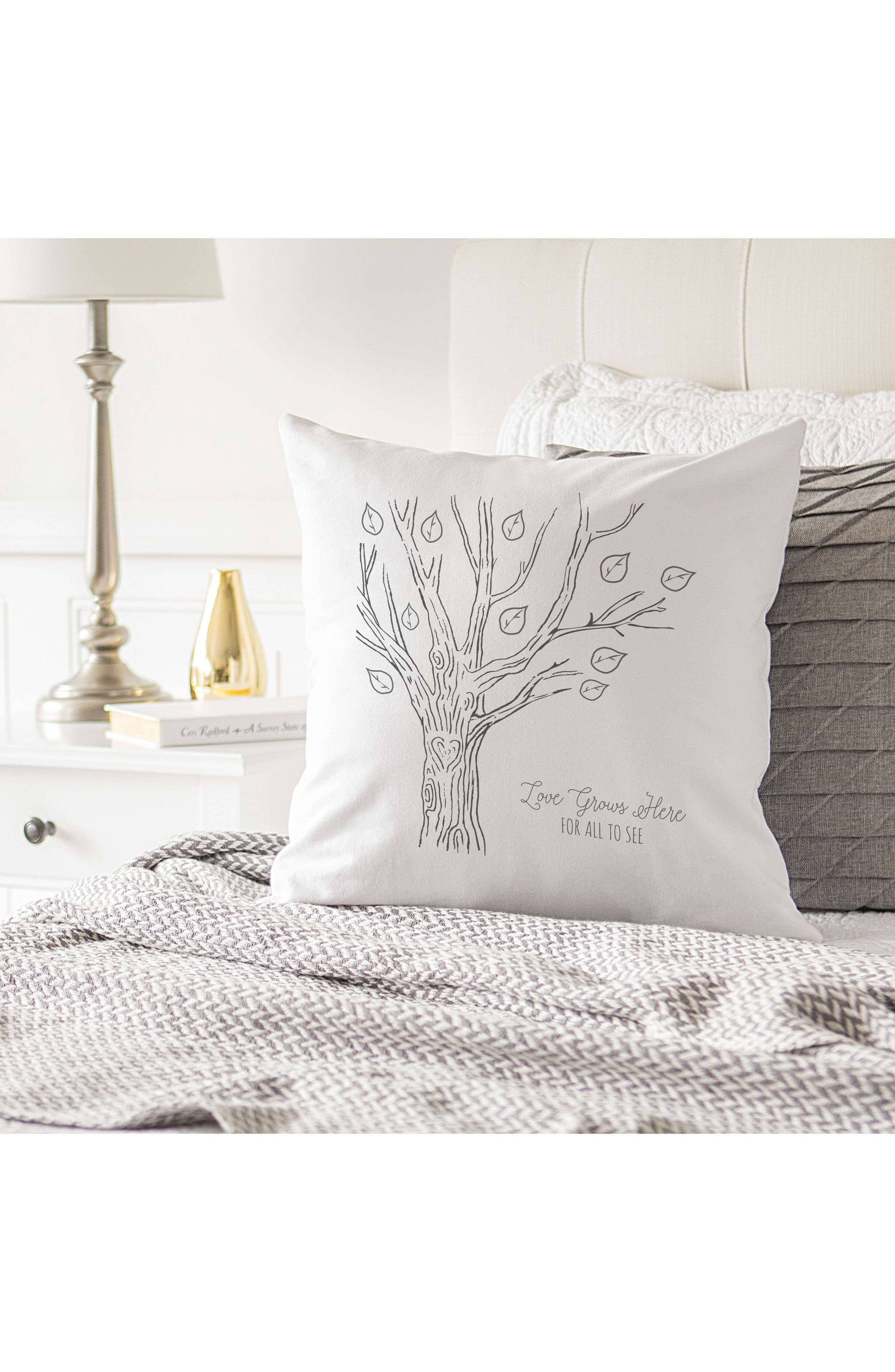 Family Tree Accent Pillow,                             Alternate thumbnail 3, color,                             001