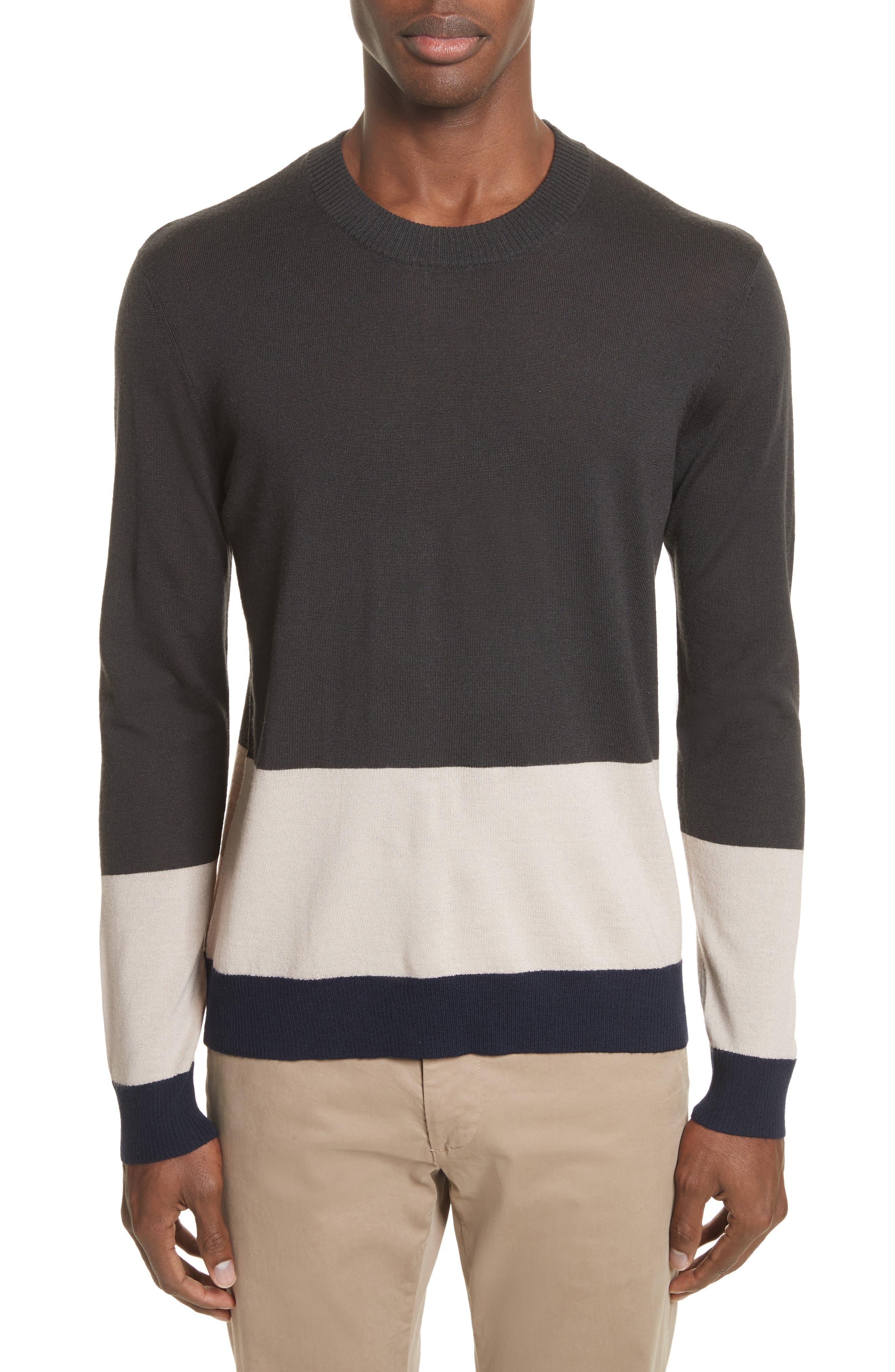 Colorblock Merino Wool Sweater,                         Main,                         color,