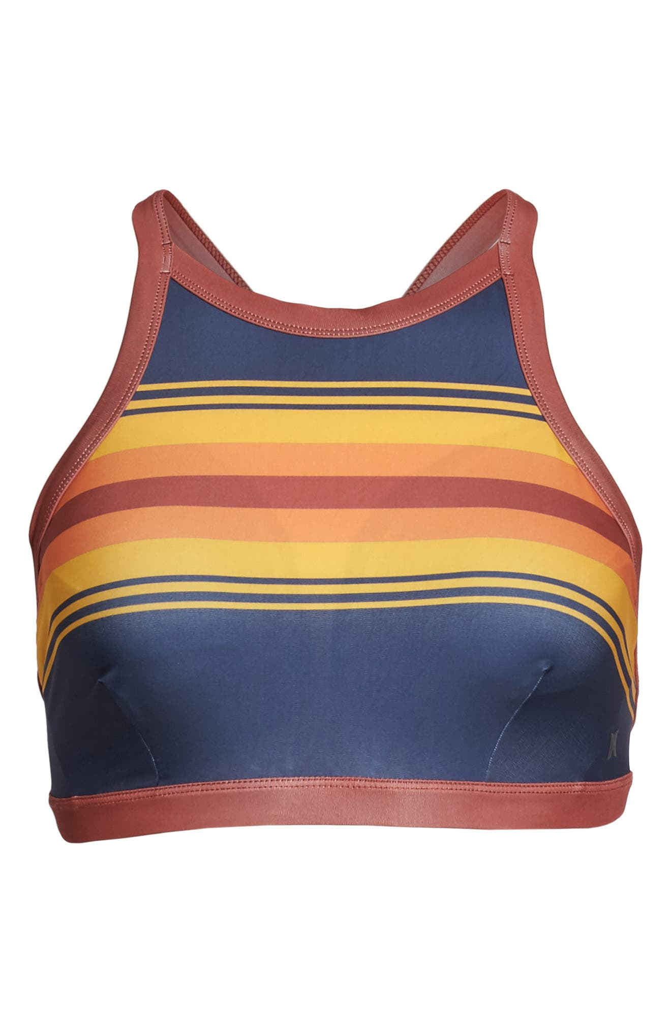 Quick Dry Pendleton Grand Canyon High Neck Bikini Top,                             Alternate thumbnail 6, color,                             402