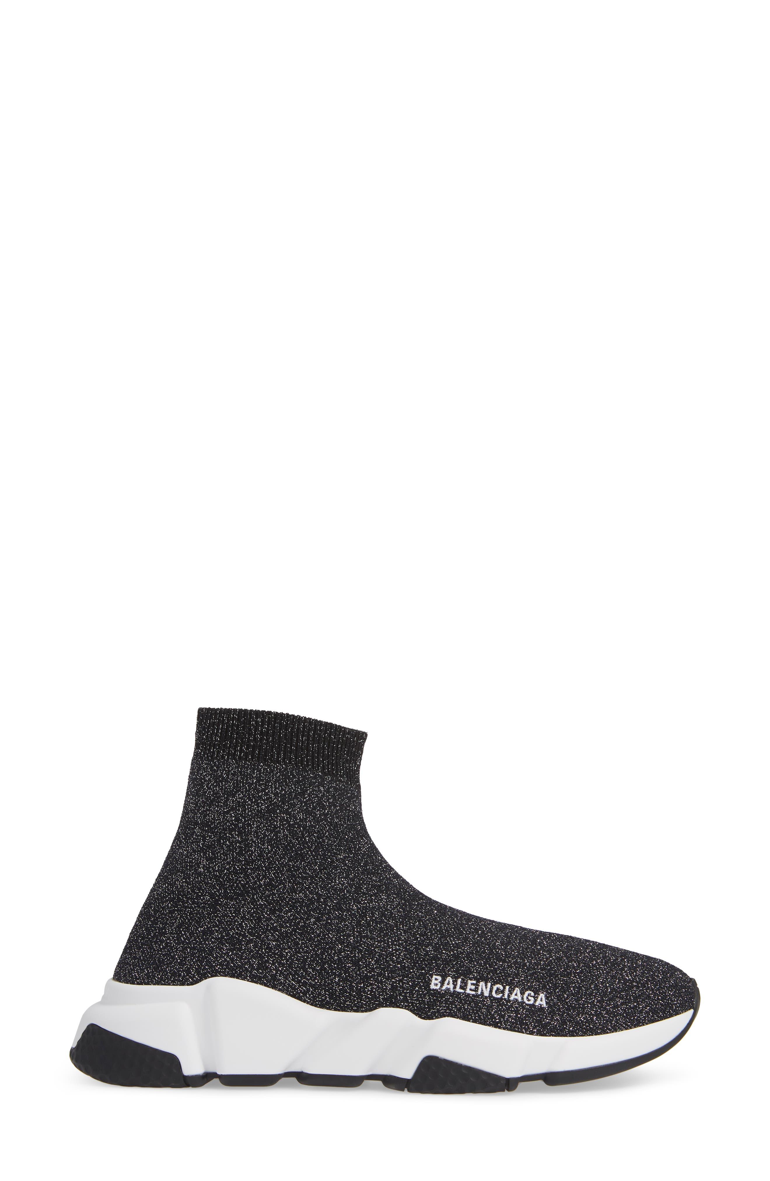 Speed Knit Sneaker,                             Alternate thumbnail 3, color,                             BLACK PEPPER