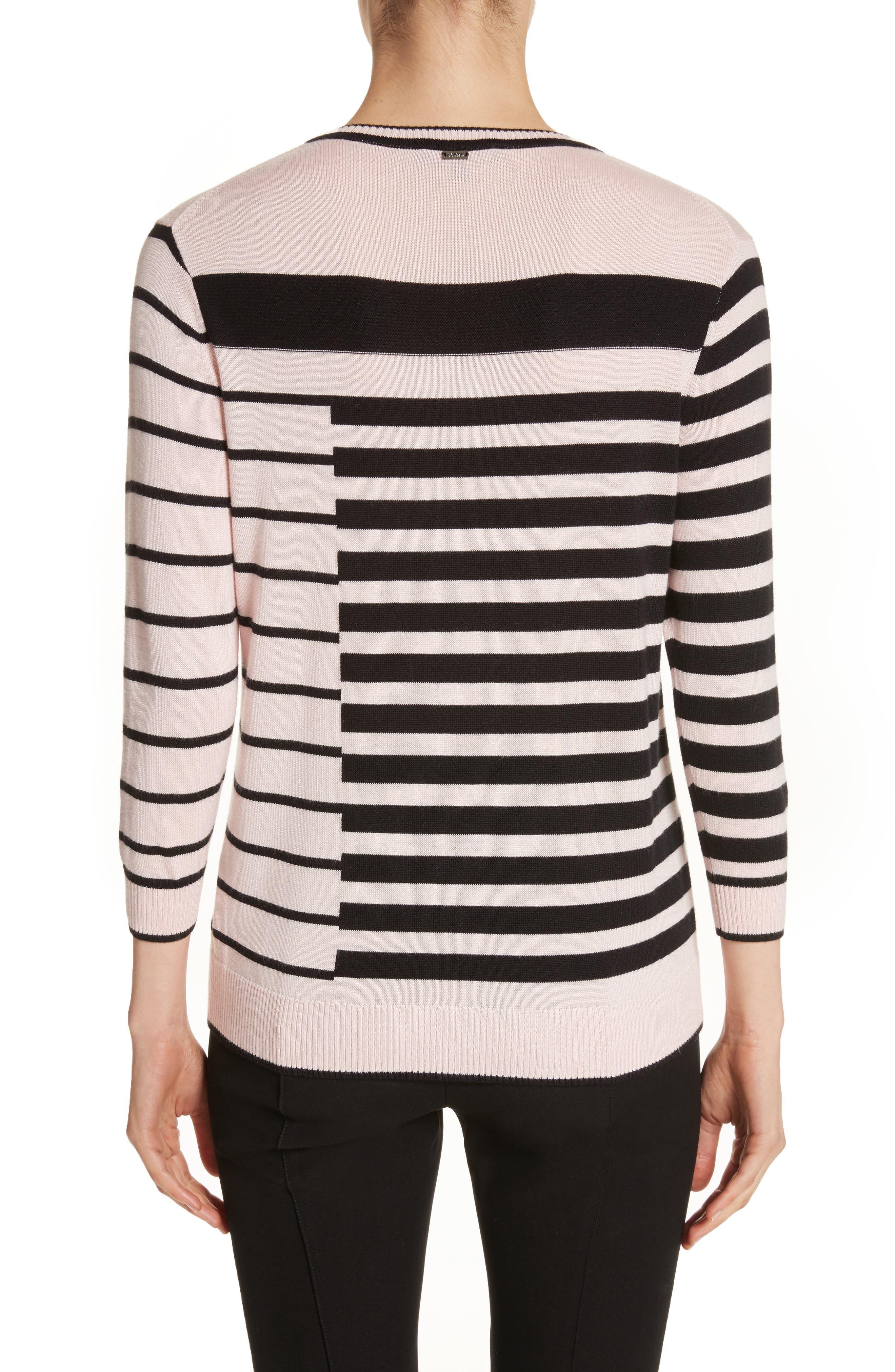 Intarsia Stripe Sweater,                             Alternate thumbnail 4, color,