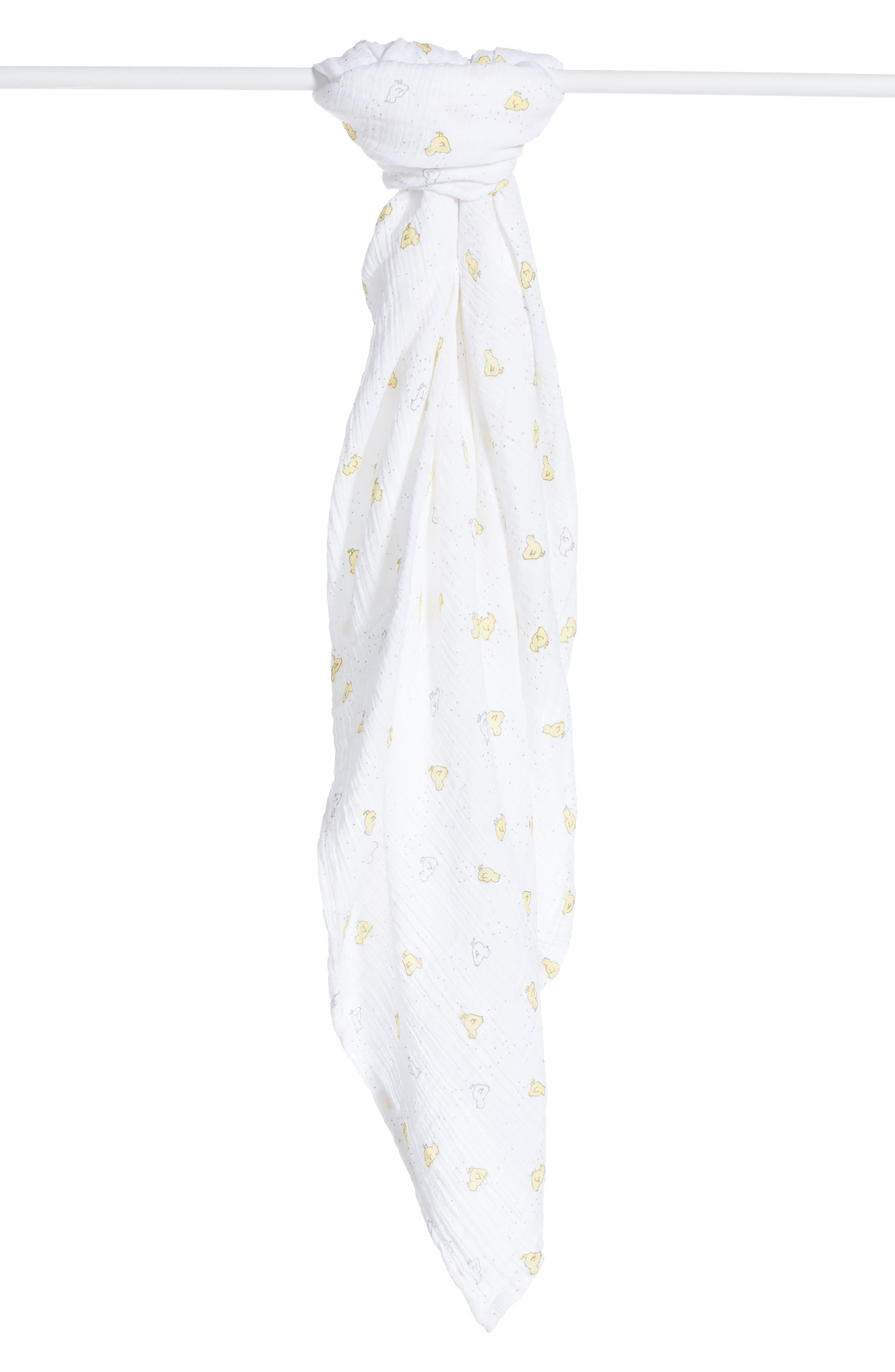 Baby Chick Swaddle Blanket,                             Alternate thumbnail 2, color,                             100