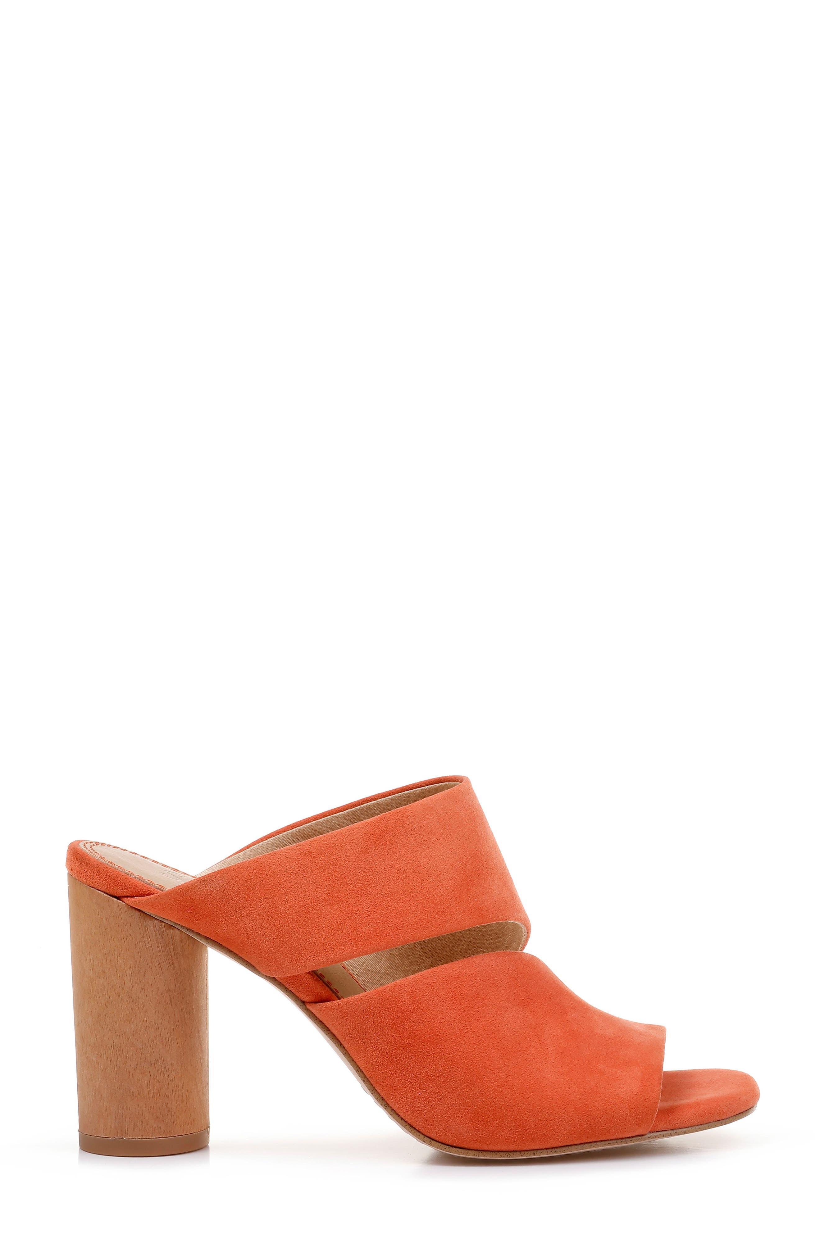 Serenade Sandal,                             Alternate thumbnail 3, color,                             ORANGE SUEDE