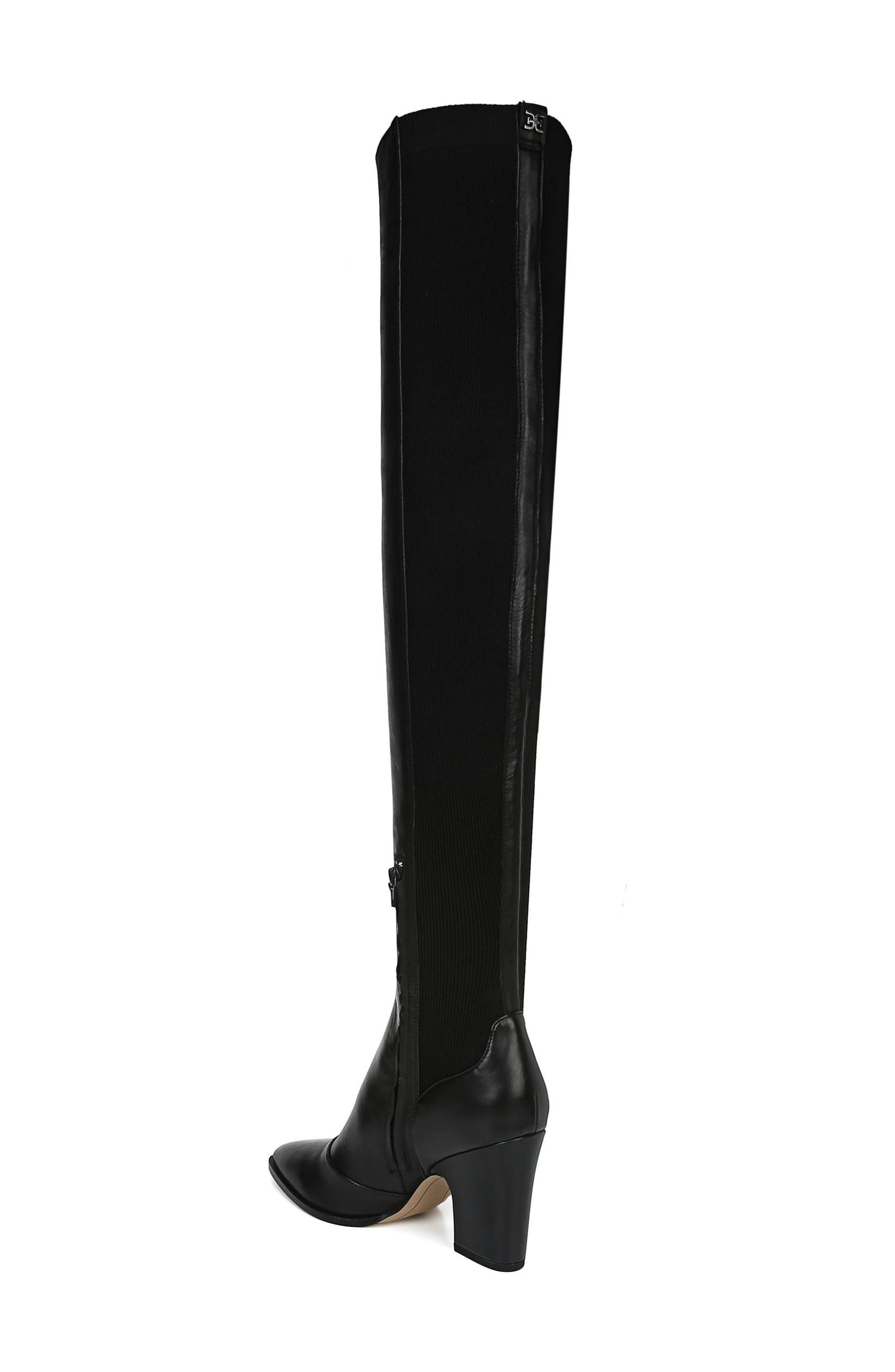 Natasha Over the Knee Boot,                             Alternate thumbnail 2, color,                             BLACK LEATHER