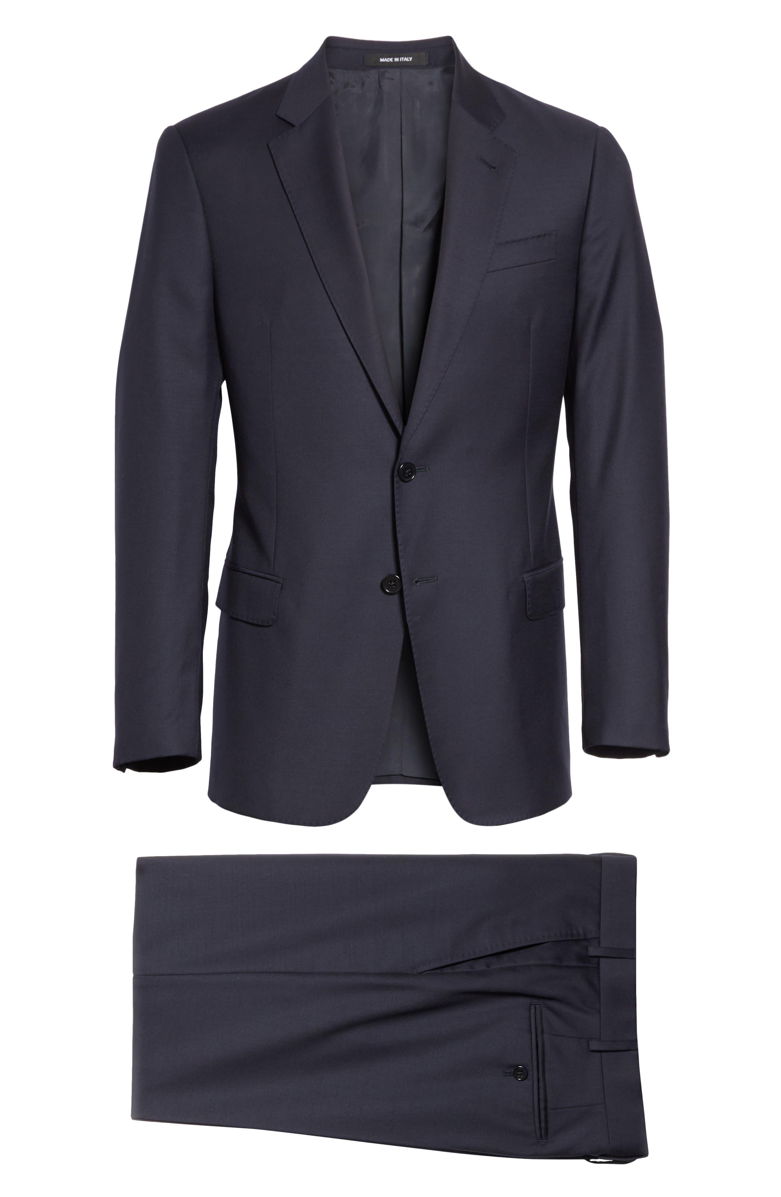Trim Fit Solid Wool Suit,                             Alternate thumbnail 23, color,