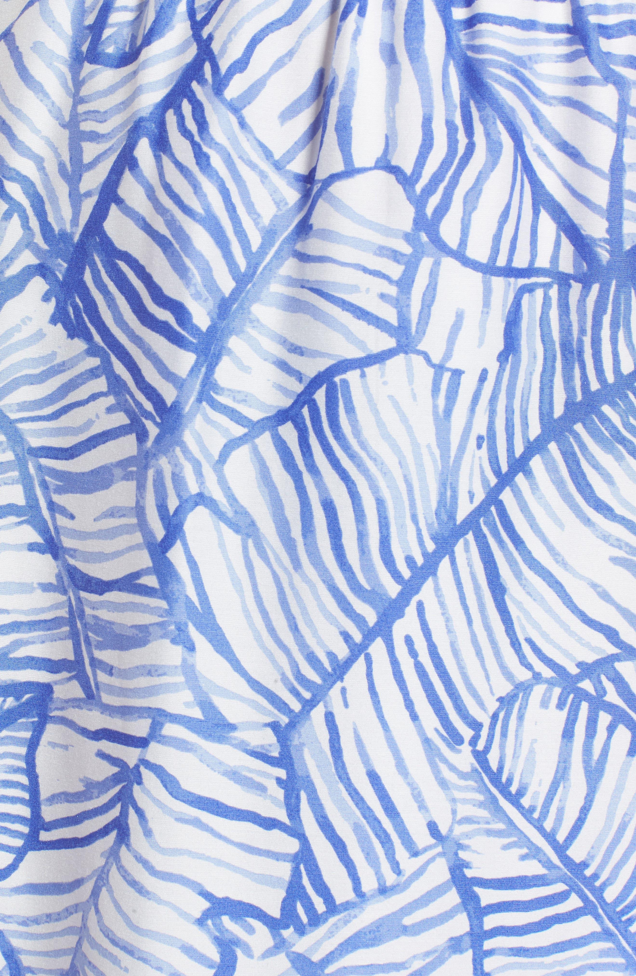 Banana Leaf High/Low Maxi Dress,                             Alternate thumbnail 5, color,