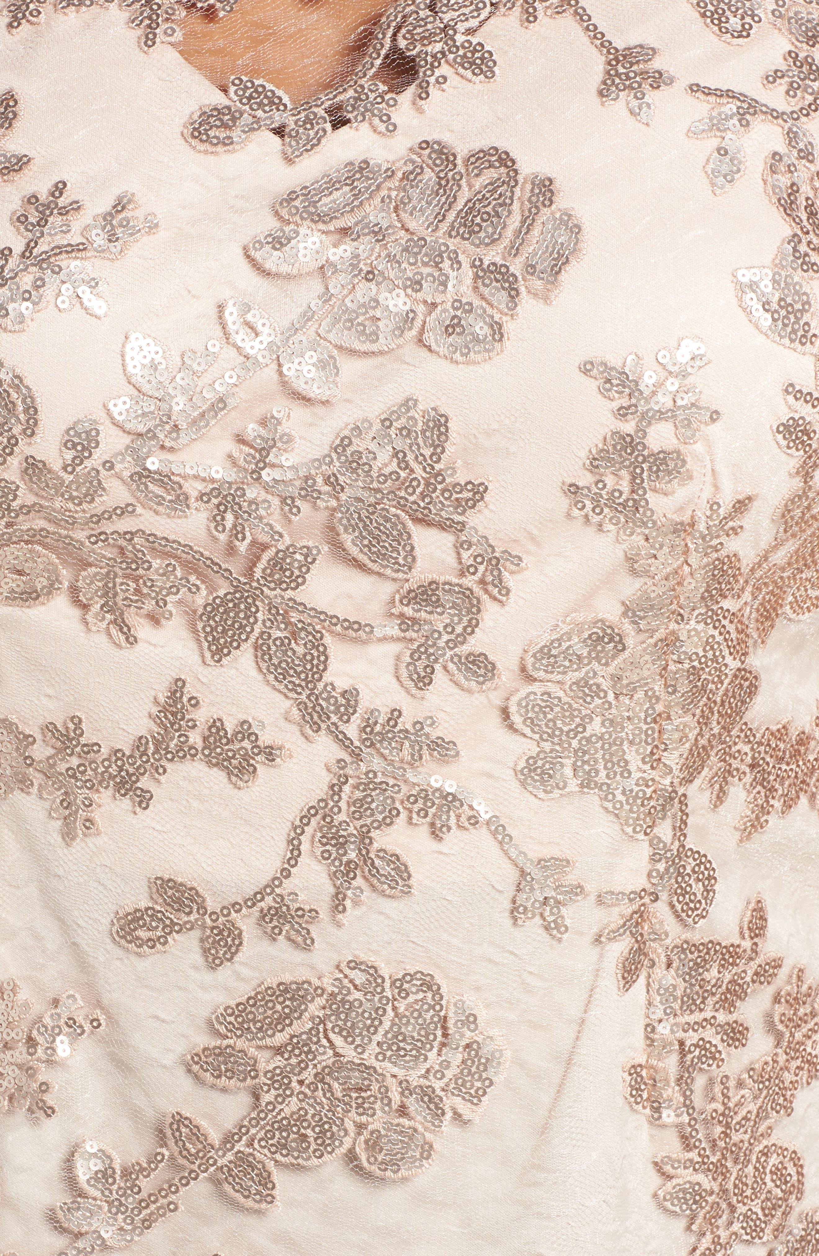 Sequin Lace Blouse,                             Alternate thumbnail 5, color,
