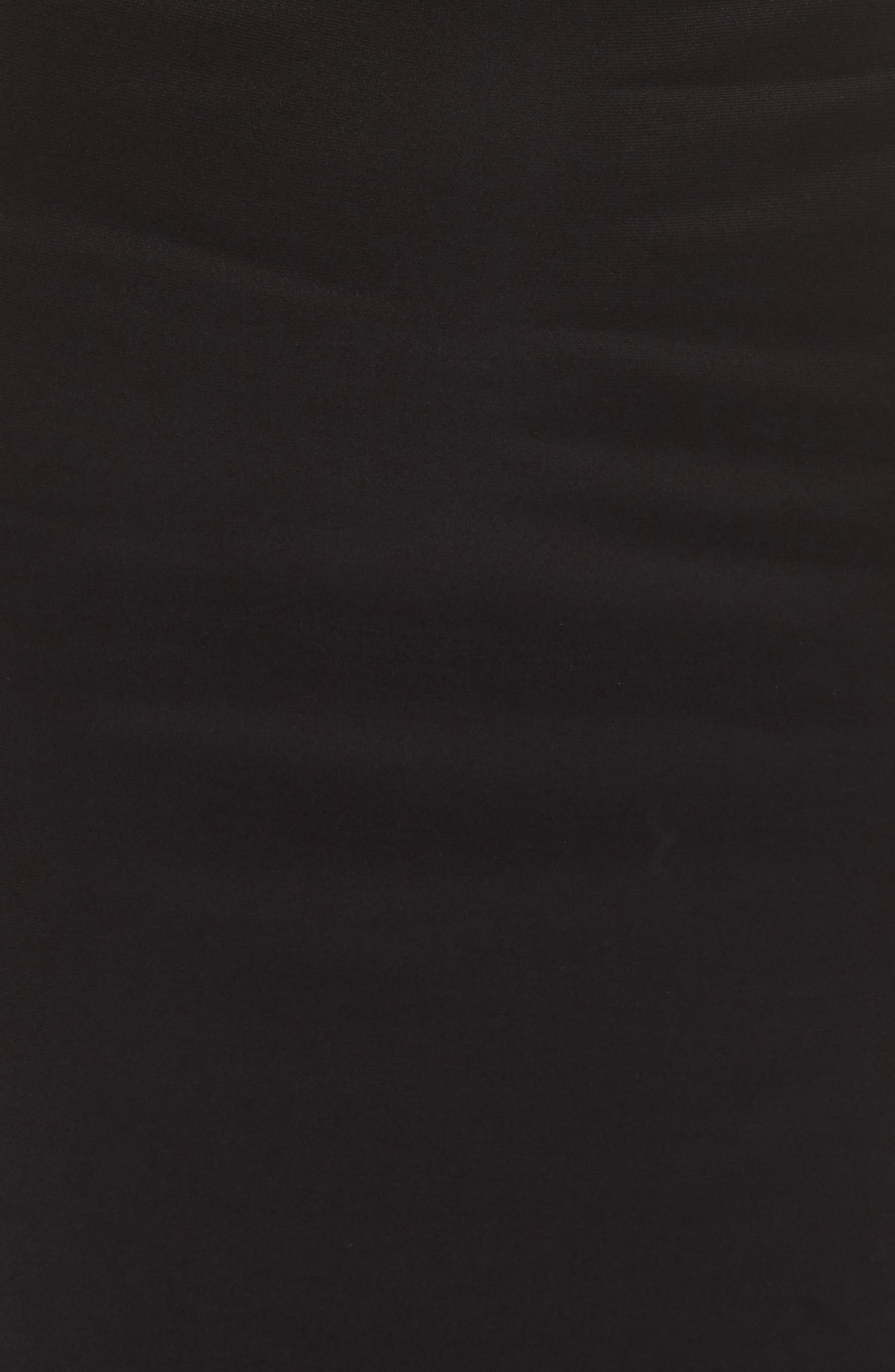 One-Shoulder Dress,                             Alternate thumbnail 5, color,                             BLACK