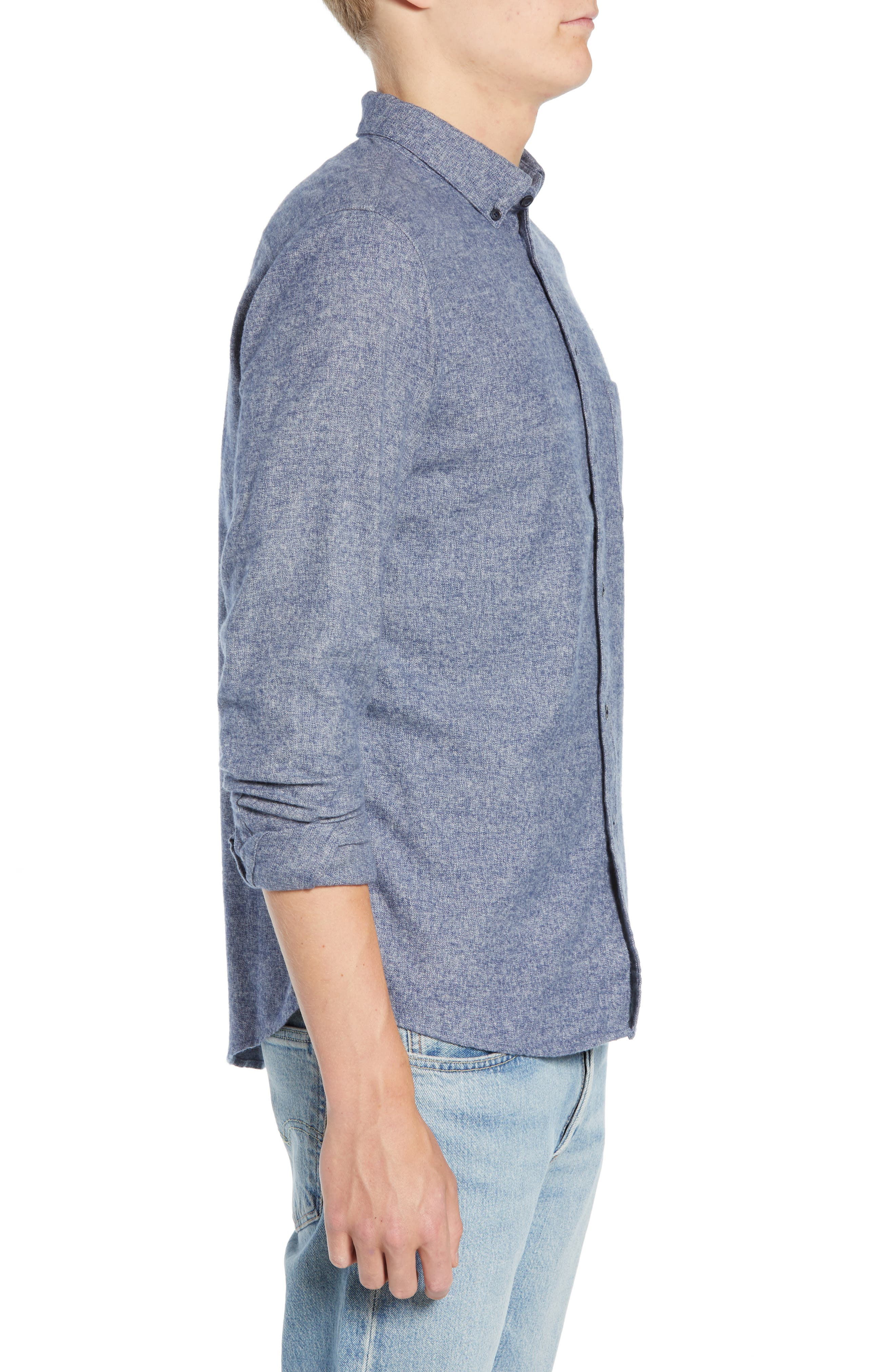 Levi's<sup>®</sup> Made & Crafted Standard Regular Fit Twill Shirt,                             Alternate thumbnail 4, color,                             400