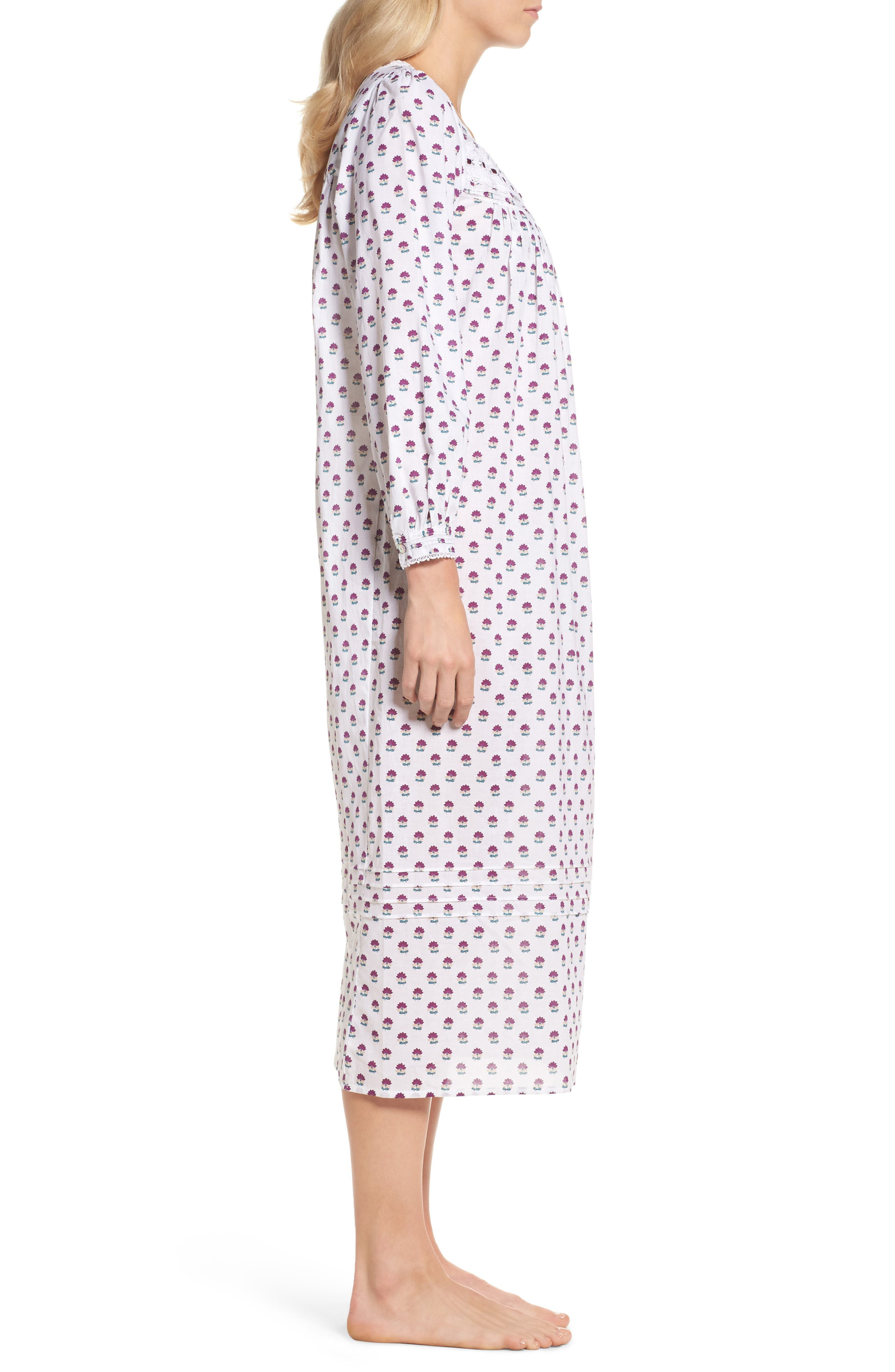 Ballet Flannel Nightgown,                             Alternate thumbnail 5, color,