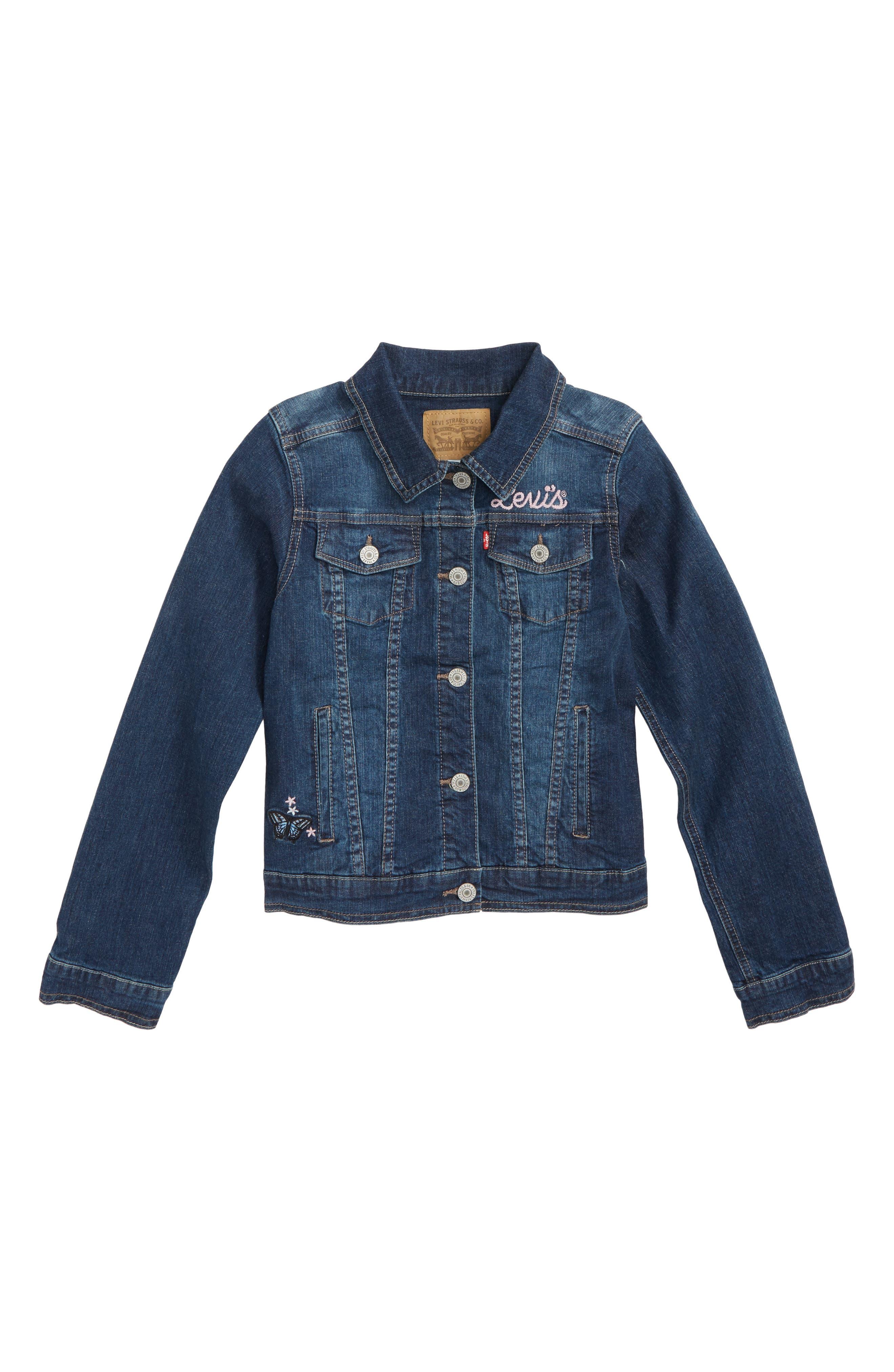 Levi's Denim Trucker Jacket,                         Main,                         color, ROCKABILLY