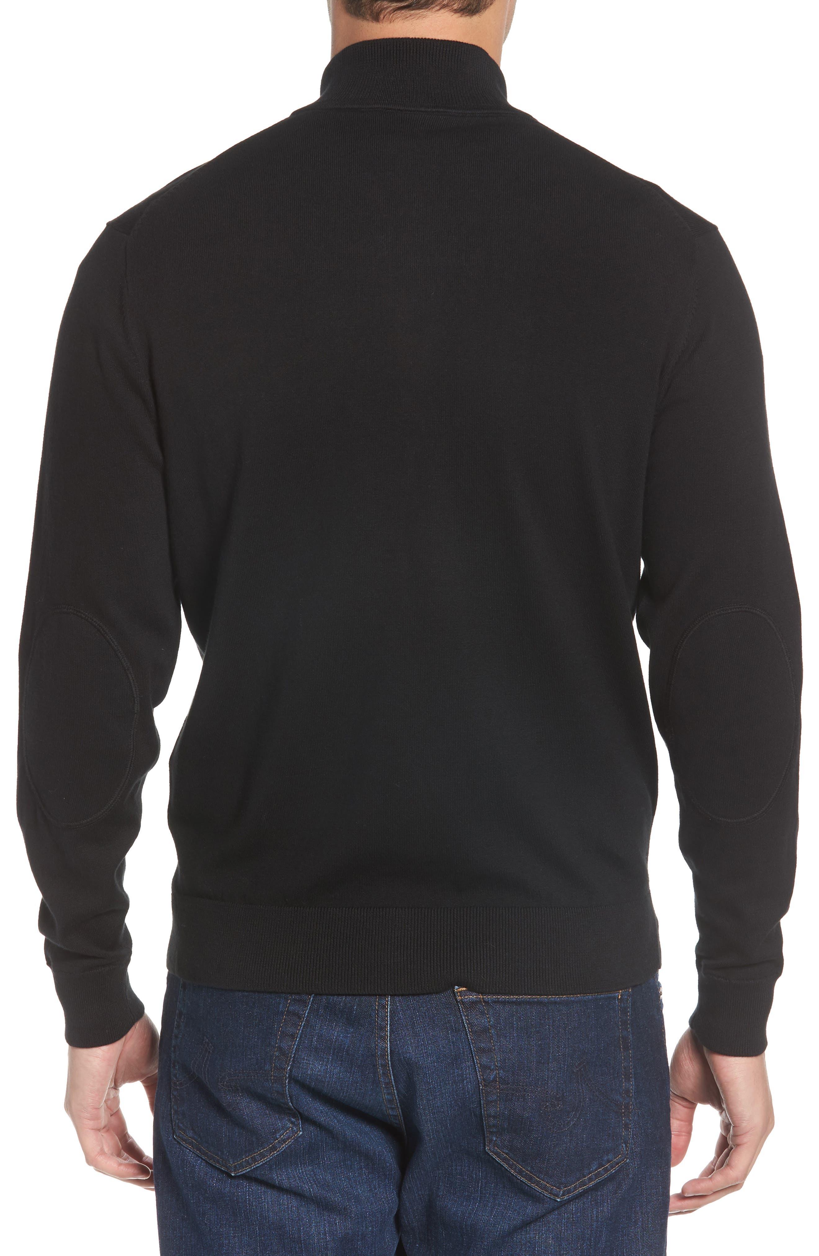 Atlanta Falcons - Lakemont Regular Fit Quarter Zip Sweater,                             Alternate thumbnail 2, color,                             BLACK
