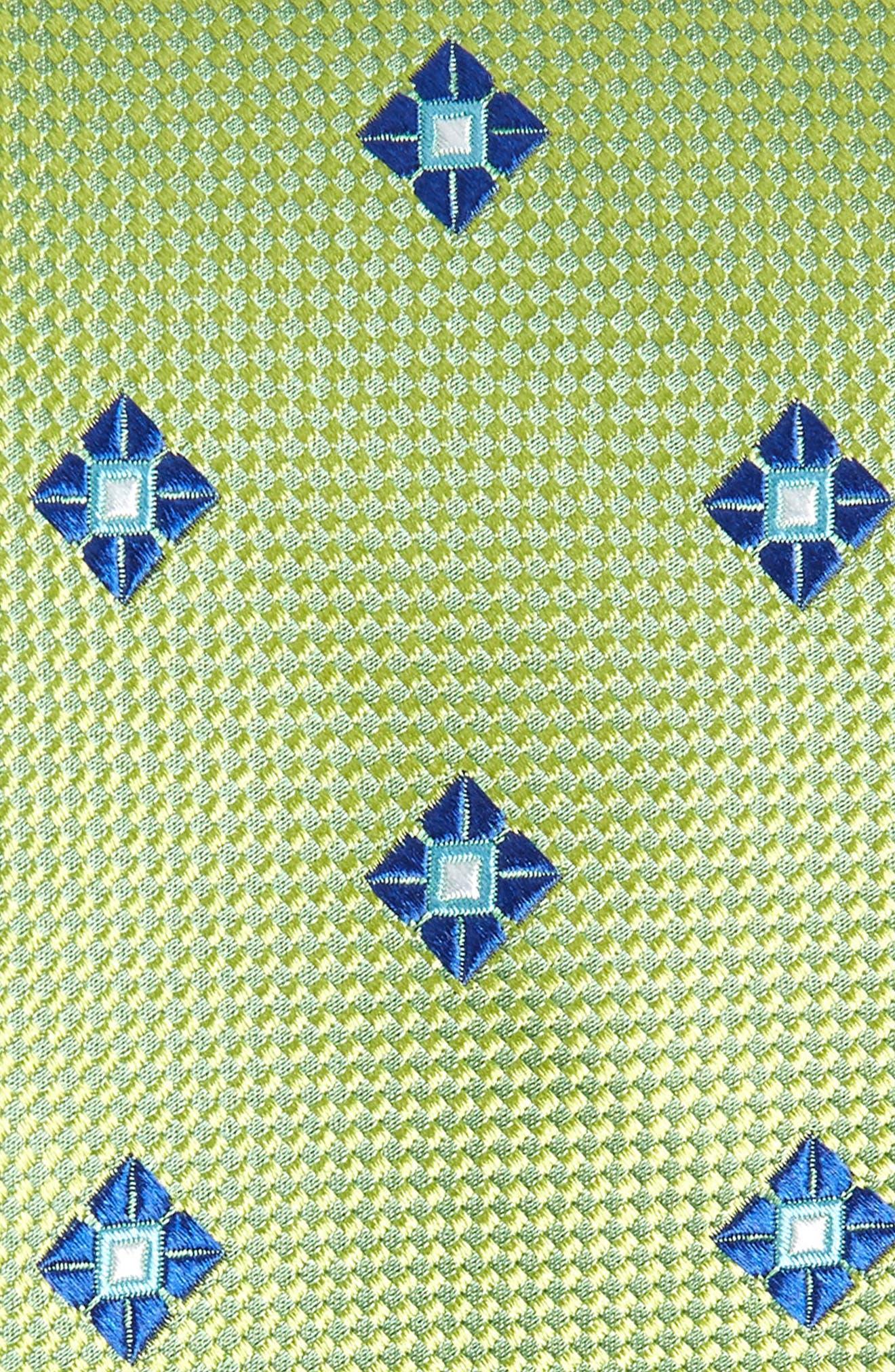 Oxford Medallion Silk Tie,                             Alternate thumbnail 2, color,                             300
