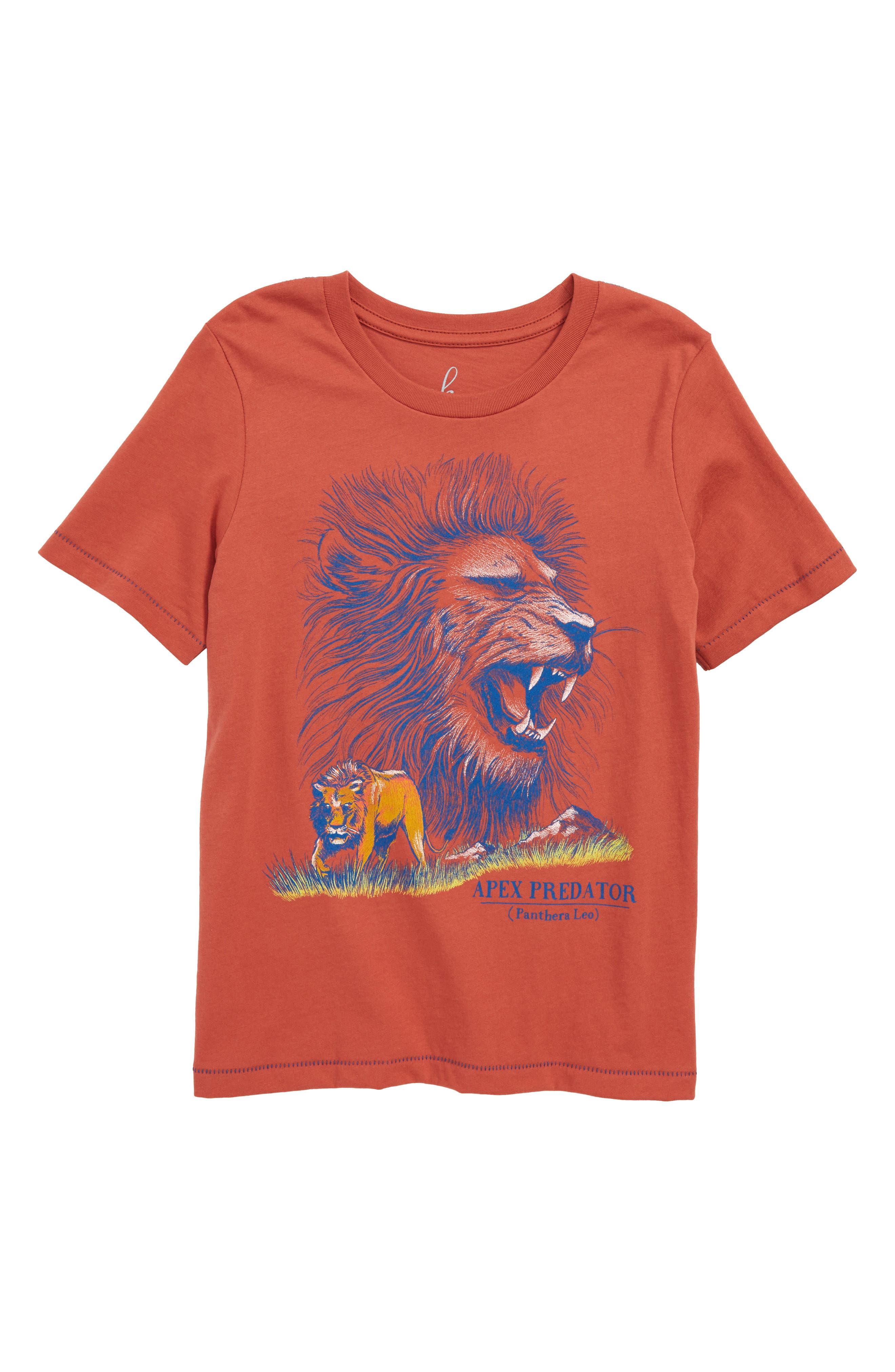Lion Graphic T-Shirt,                             Main thumbnail 1, color,                             800