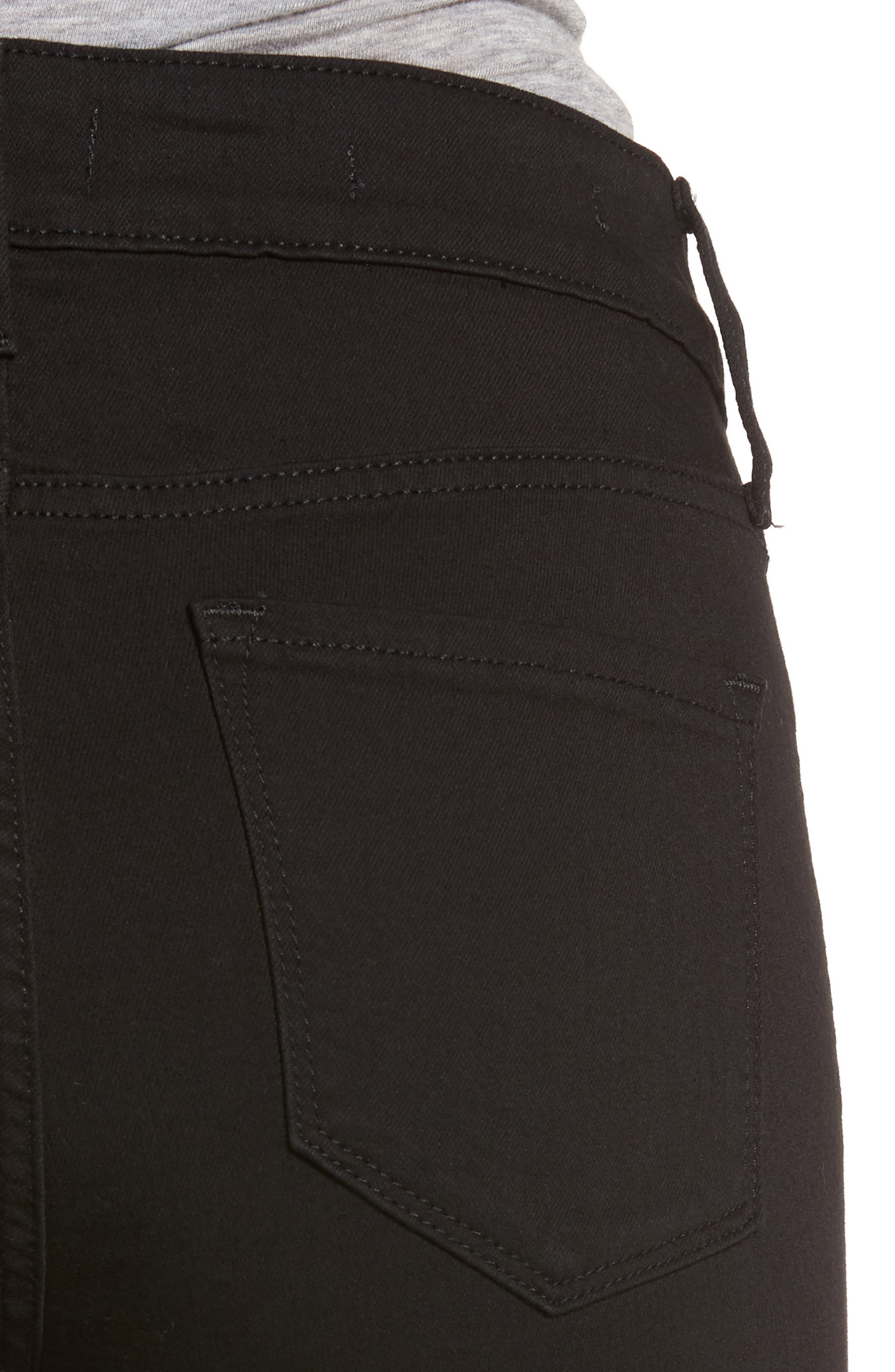 Ami Stretch Skinny Jeans,                             Alternate thumbnail 6, color,                             001