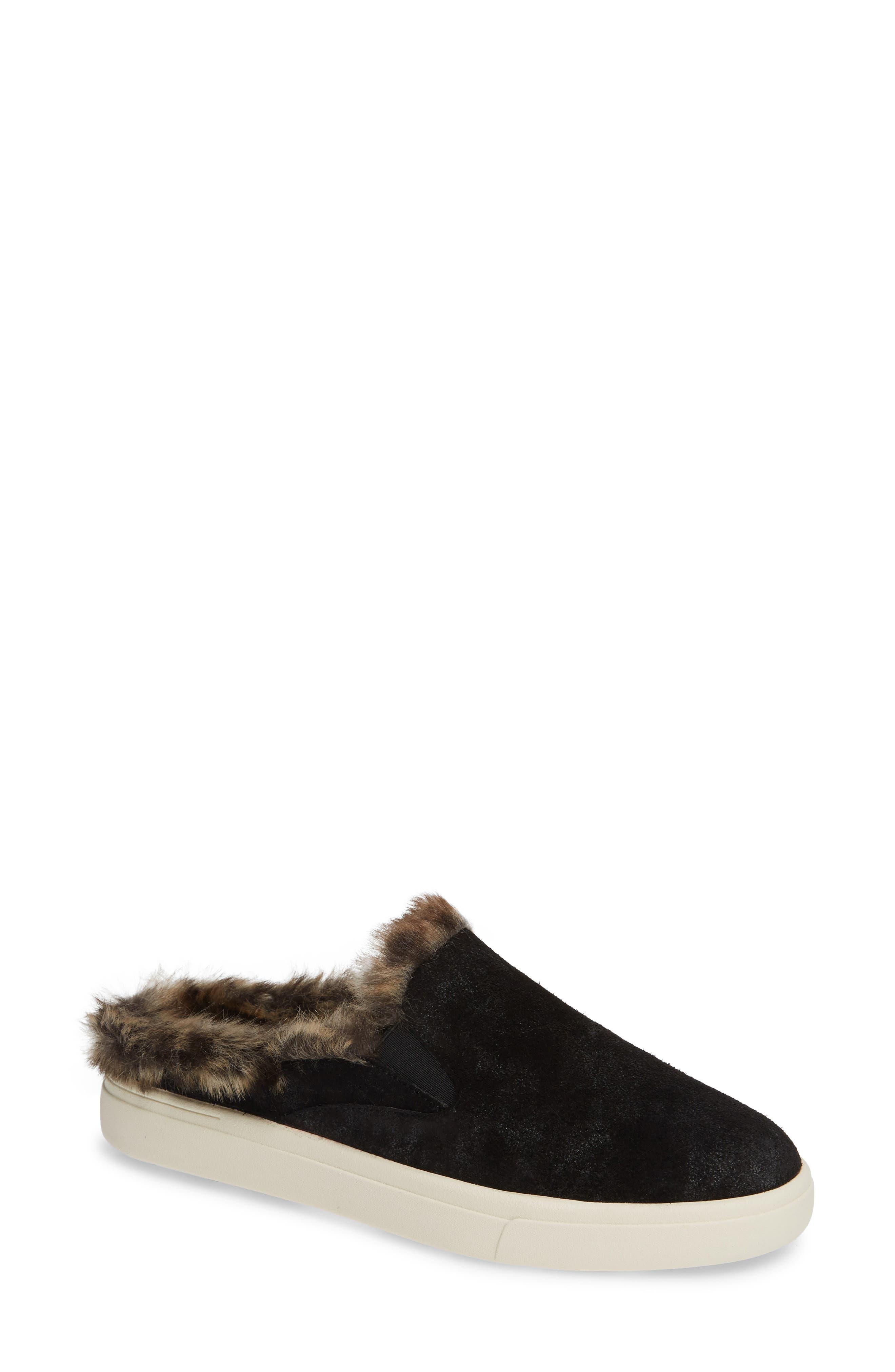 VANELI Yasir Slip-On Sneaker, Main, color, BLACK SUEDE