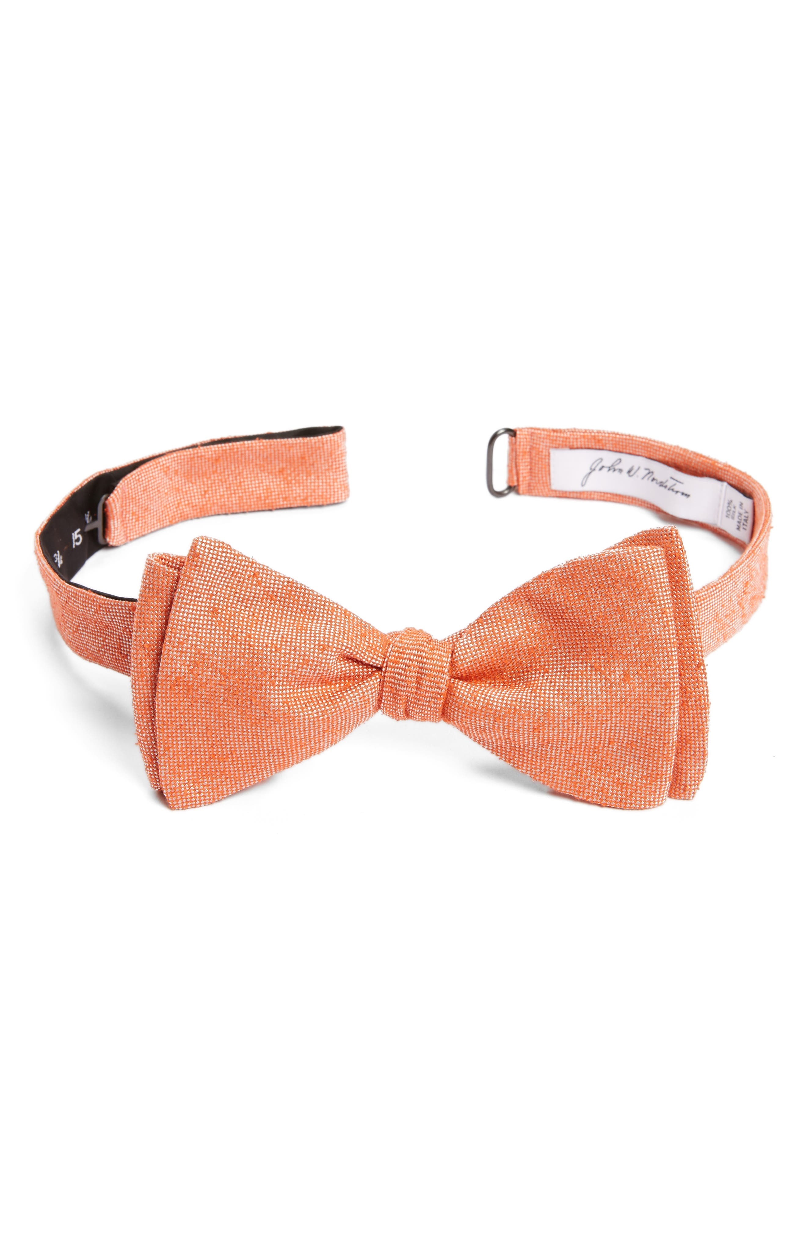 Solid Silk Bow Tie,                             Main thumbnail 2, color,