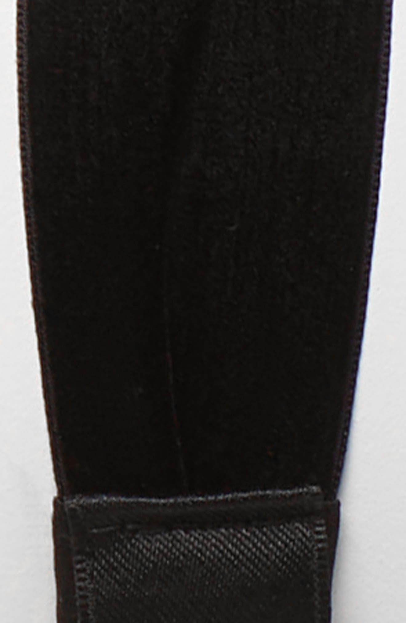 Satin Bow Head Wrap,                             Alternate thumbnail 2, color,                             BLACK