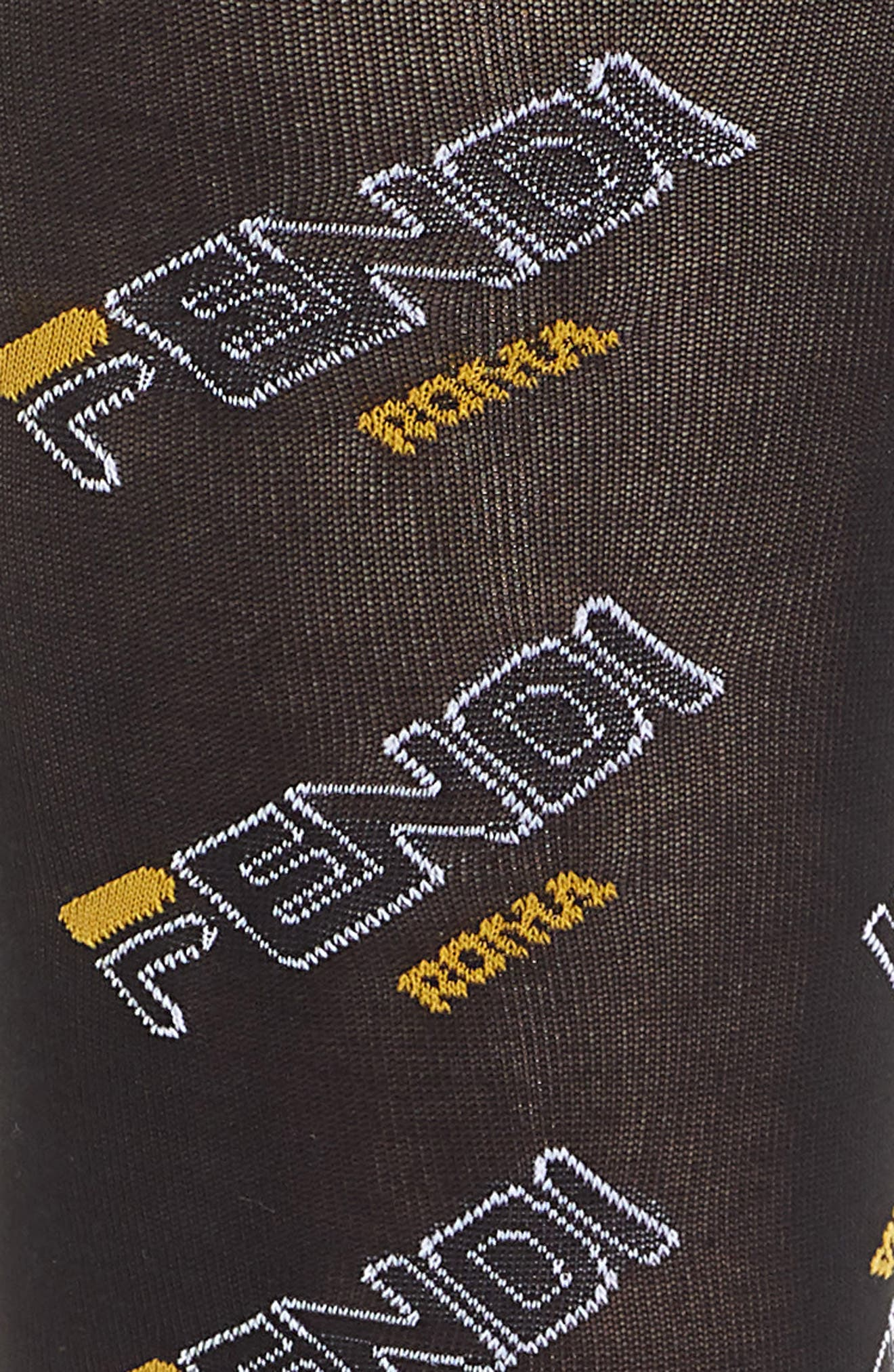 x FILA Mania Logo Tights,                             Alternate thumbnail 2, color,                             BLACK MULTI