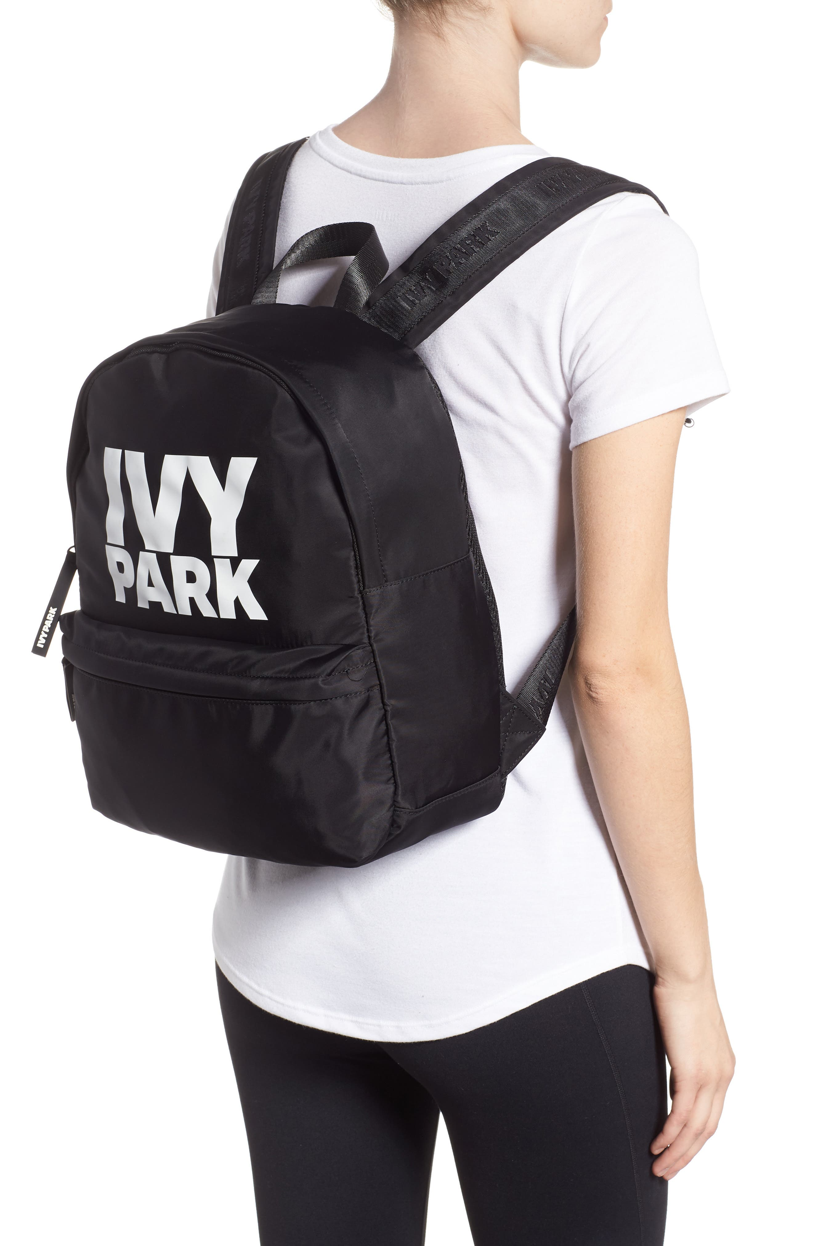IVY PARK<SUP>®</SUP>,                             Ivy Park Layered Logo Backpack,                             Alternate thumbnail 2, color,                             001