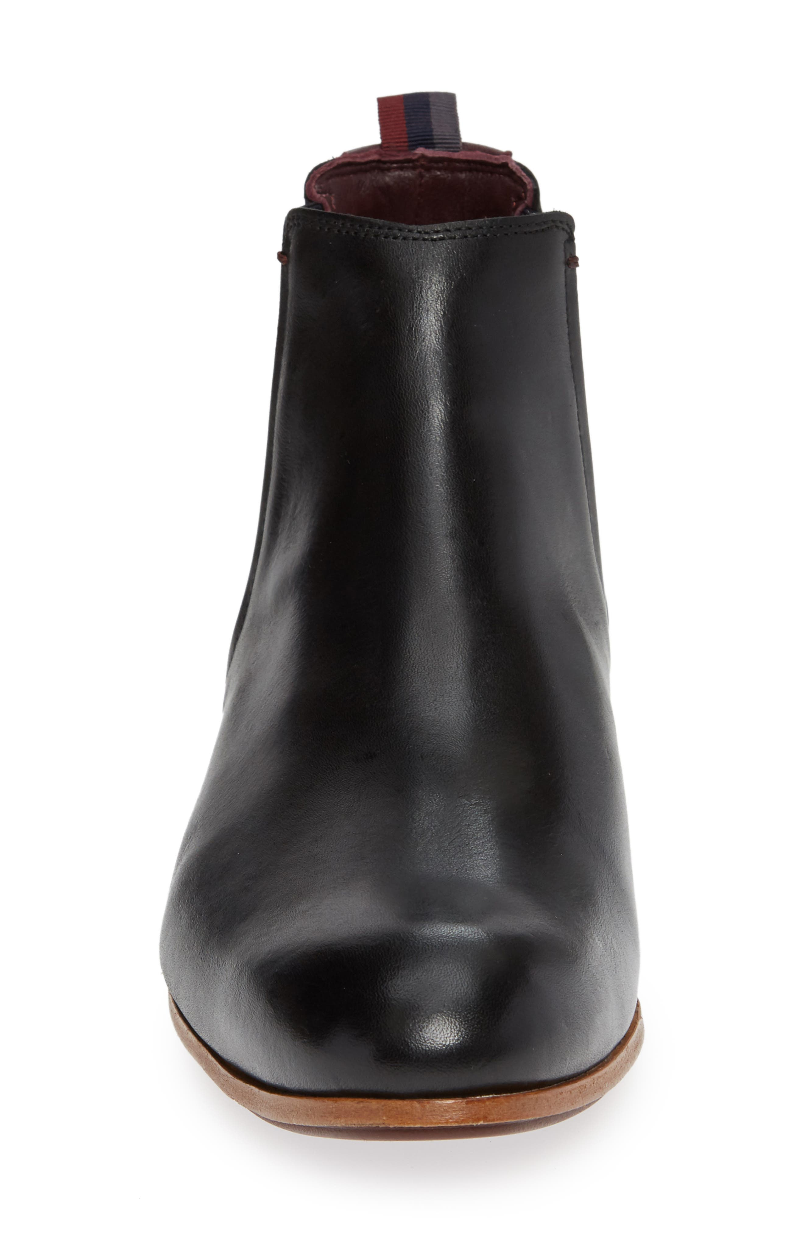 Whron Chelsea Boot,                             Alternate thumbnail 4, color,                             BLACK