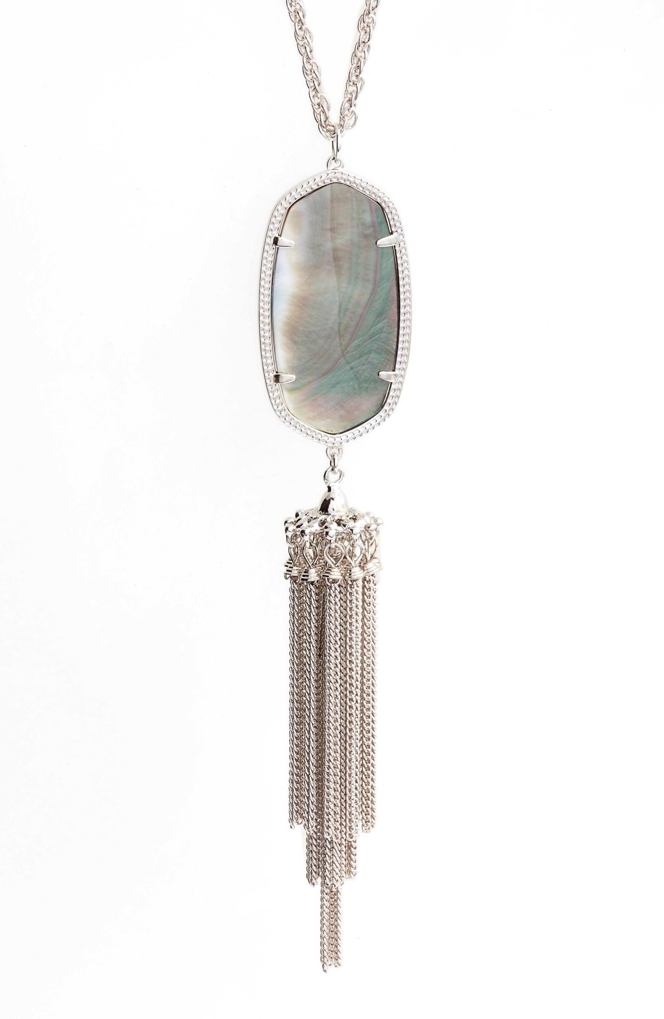 Rayne Stone Tassel Pendant Necklace,                             Alternate thumbnail 109, color,