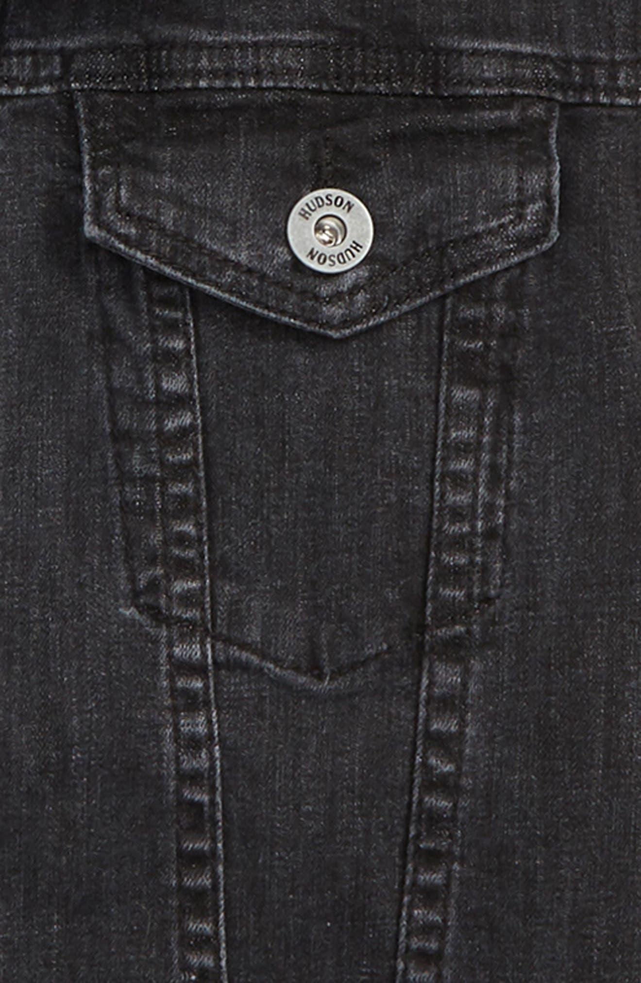 Emerson Hooded Denim Jacket,                             Alternate thumbnail 2, color,                             GRAY