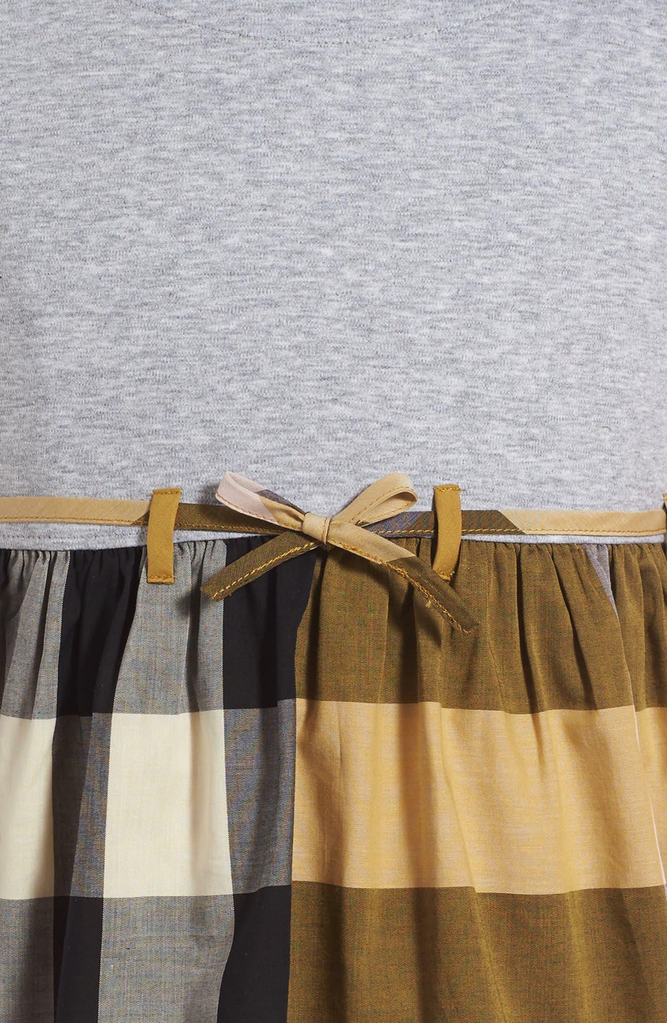 Rhonda Check Dress,                             Alternate thumbnail 3, color,                             704
