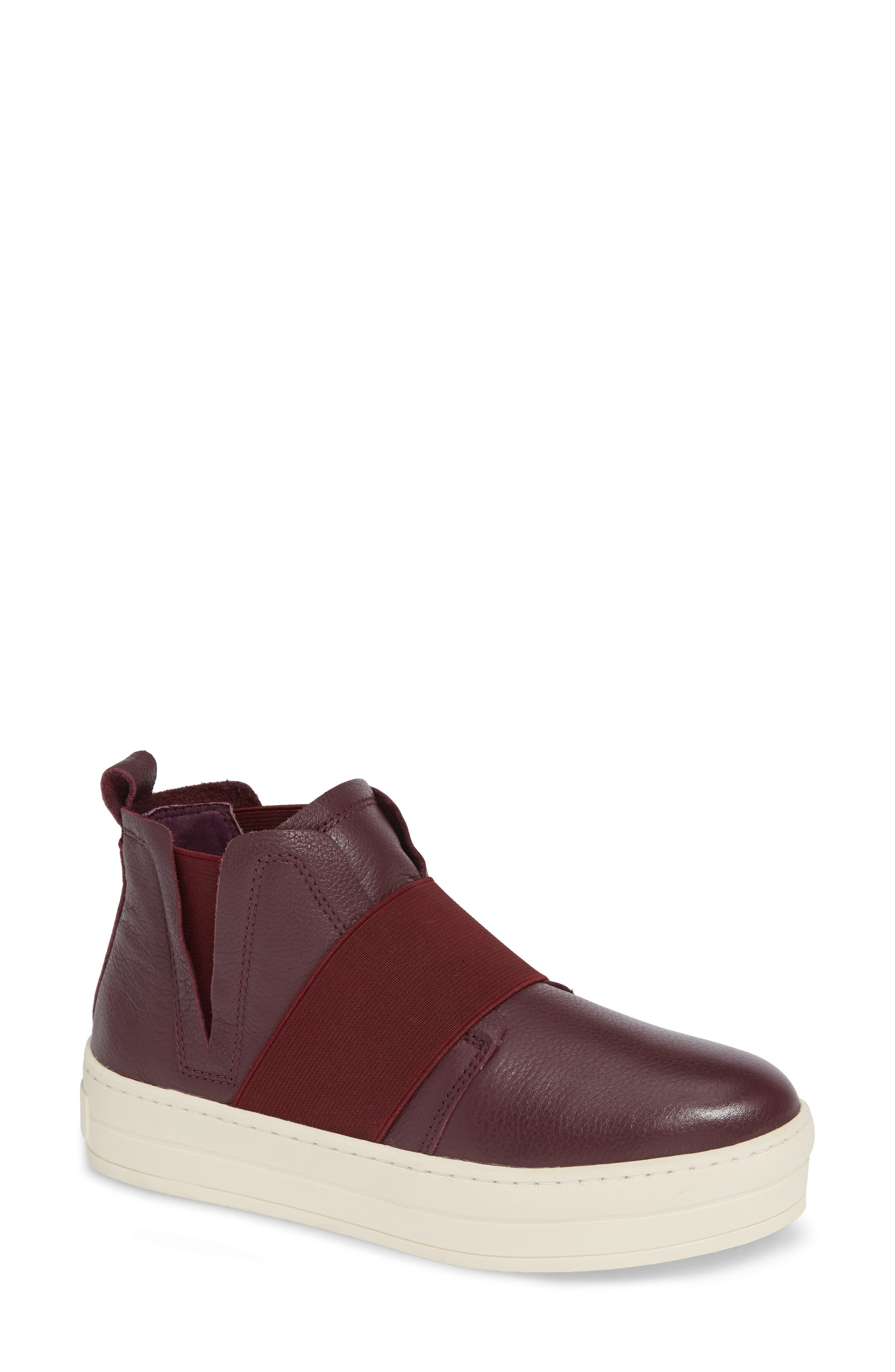 Jslides Holland High Top Platform Sneaker- Burgundy