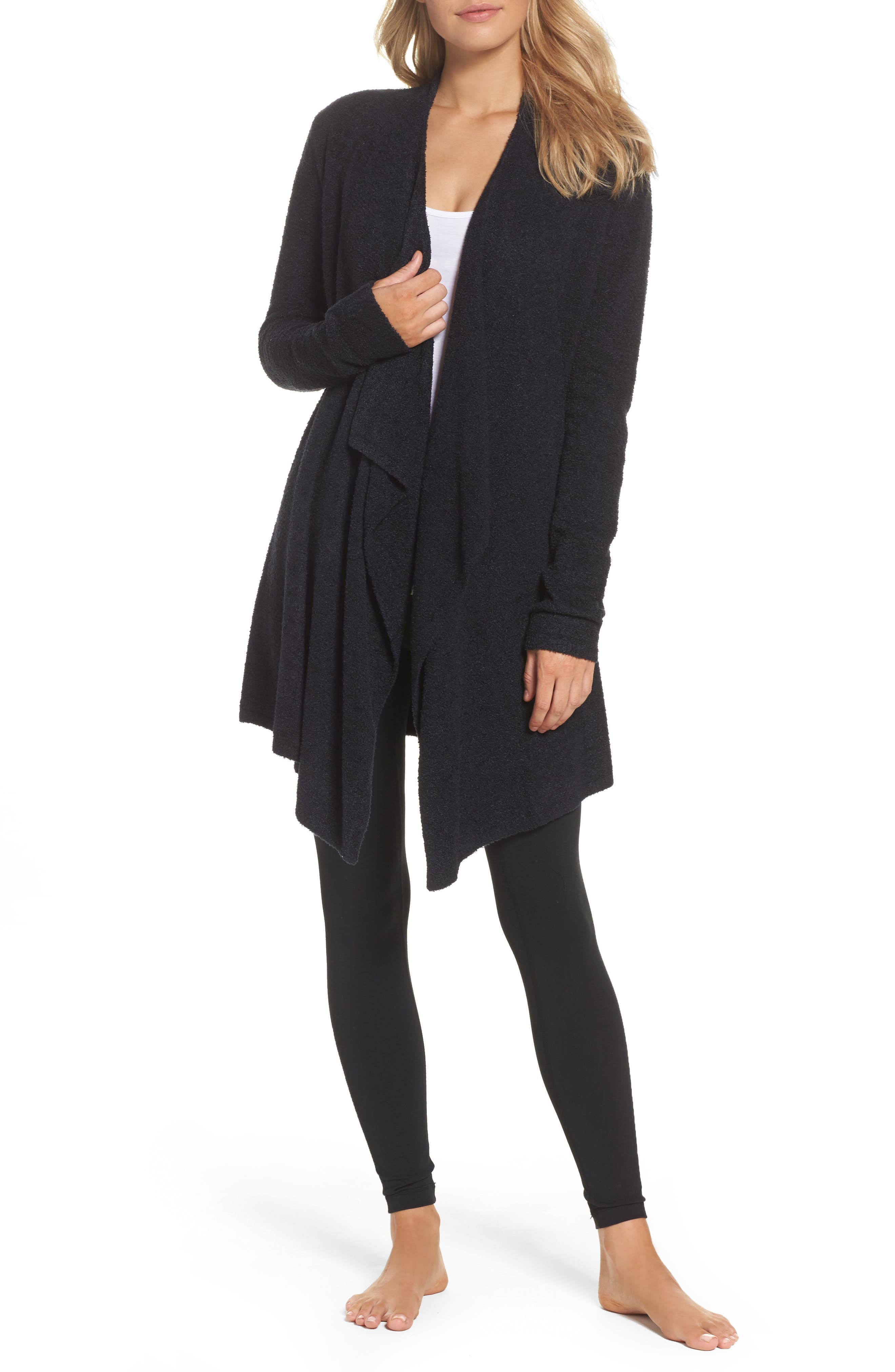 CozyChic Lite<sup>®</sup> Calypso Wrap Cardigan,                         Main,                         color, BLACK