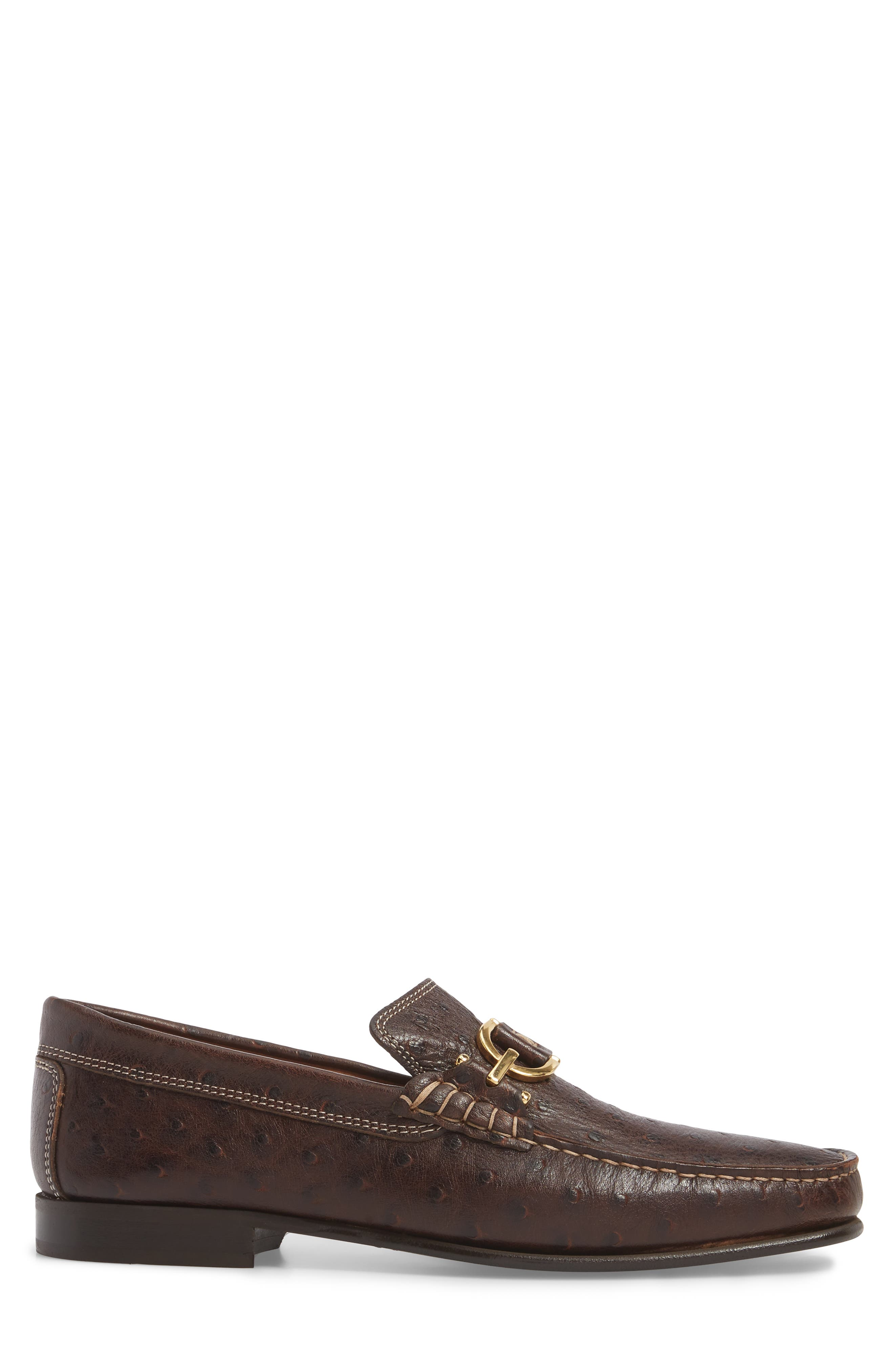Dacio Square-Toe Loafer,                             Alternate thumbnail 3, color,                             BROWN LEATHER