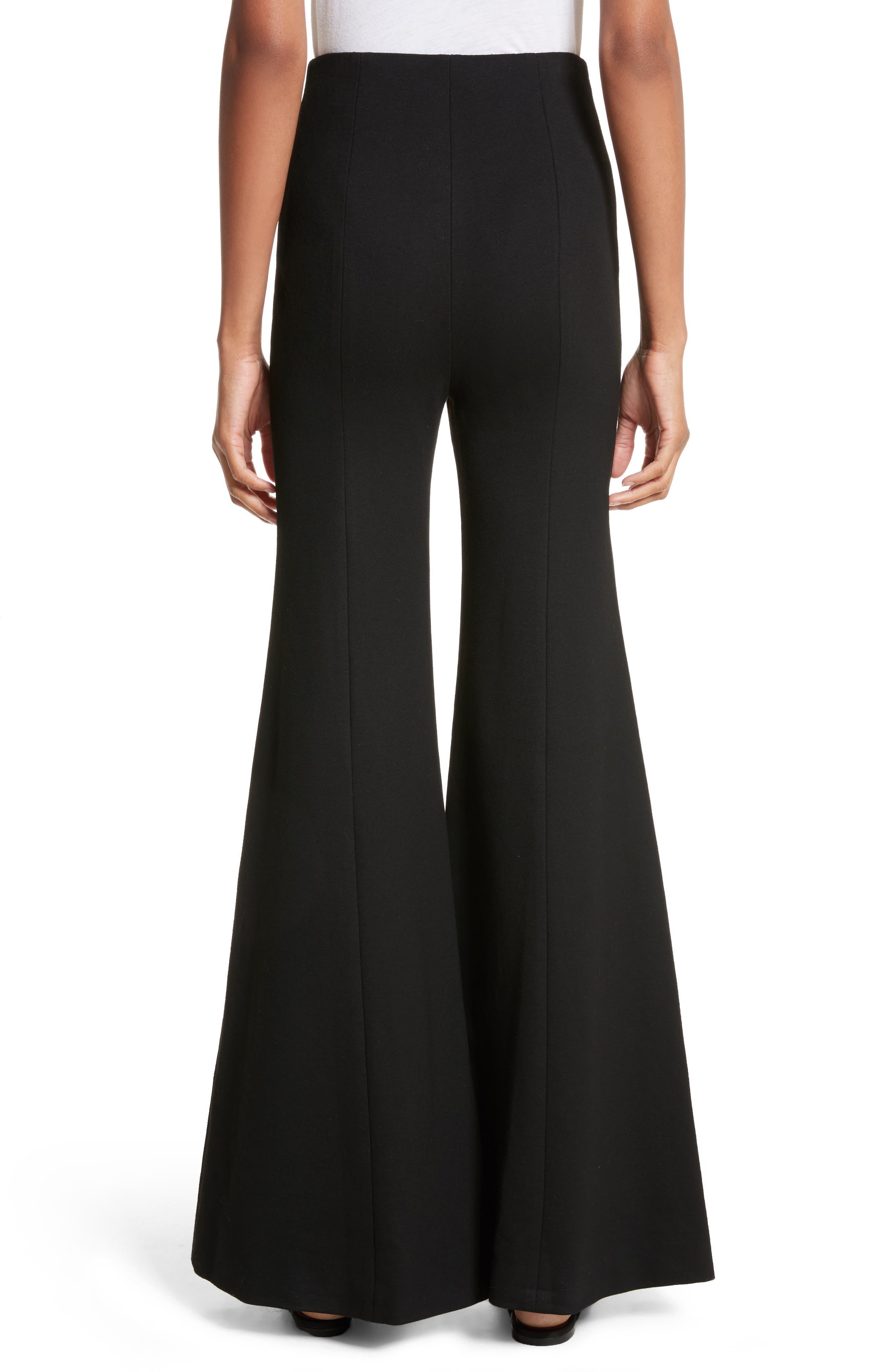 Jersey Flare Pants,                             Alternate thumbnail 2, color,                             BLACK