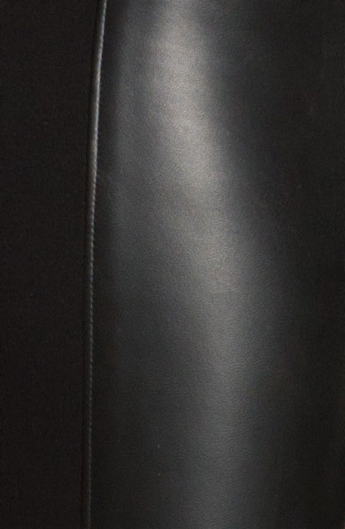 PAIGE BLACK LABEL,                             'Paloma' Leather Panel Leggings,                             Alternate thumbnail 3, color,                             001