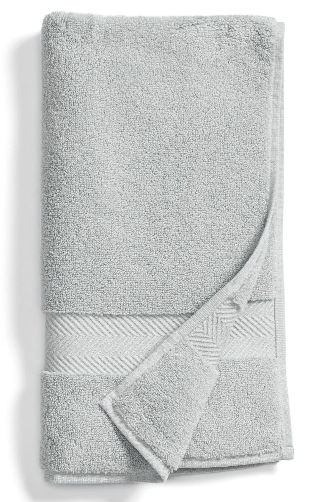 Hydrocotton Hand Towel,                         Main,                         color, GREY VAPOR