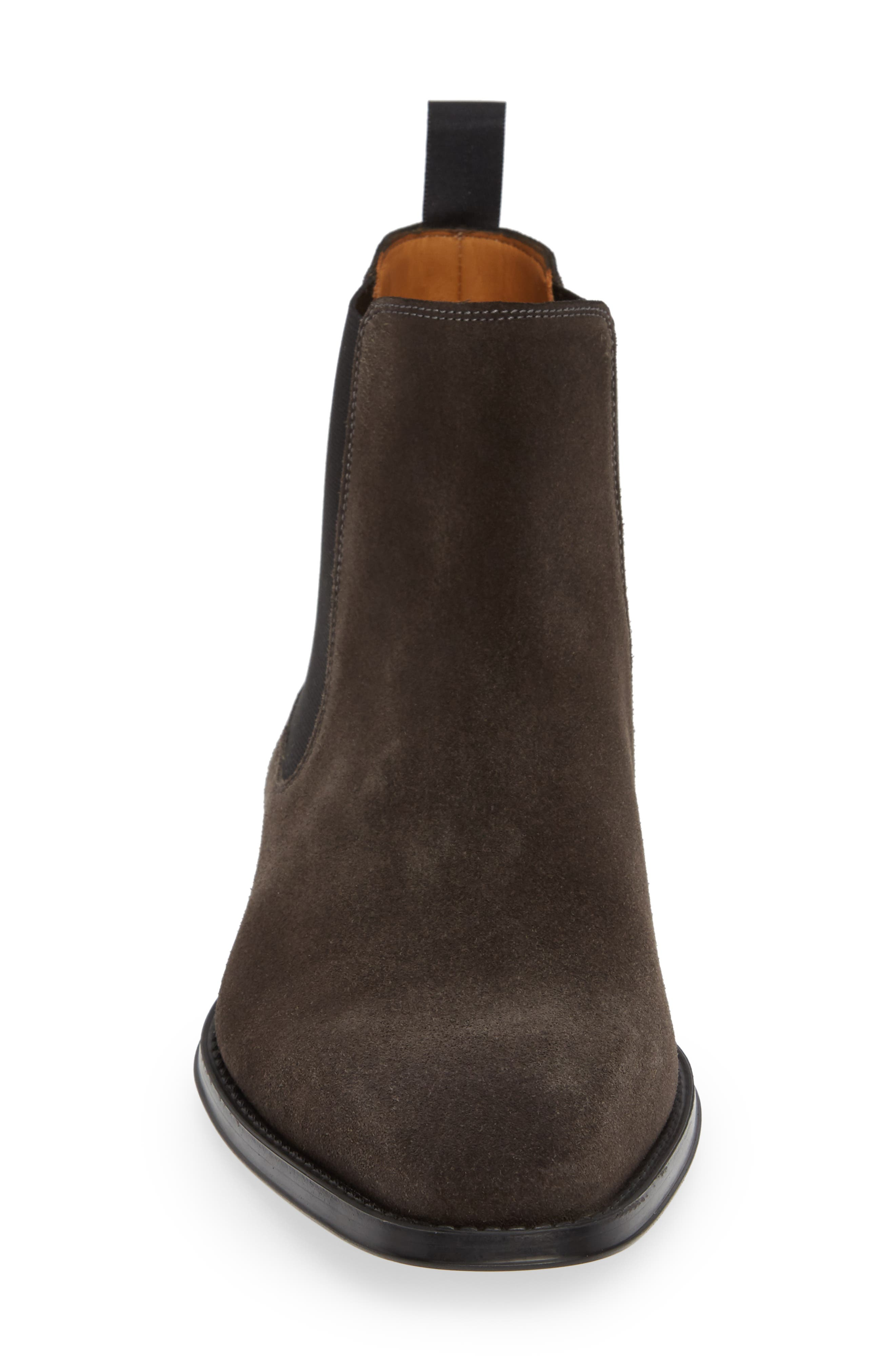 'Sean' Chelsea Boot,                             Alternate thumbnail 4, color,                             GREY LEATHER
