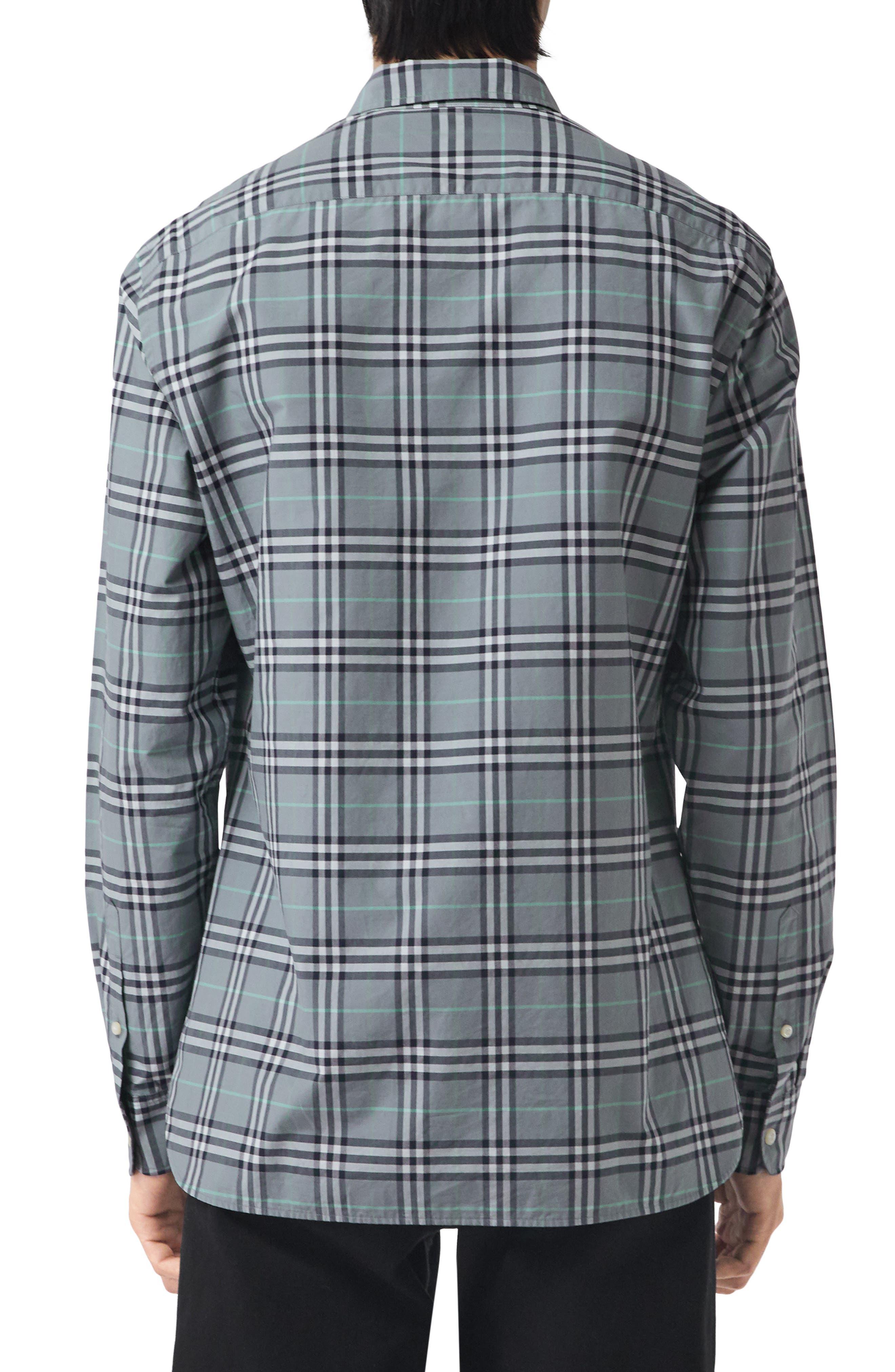 Alexander Check Sport Shirt,                             Alternate thumbnail 3, color,                             400
