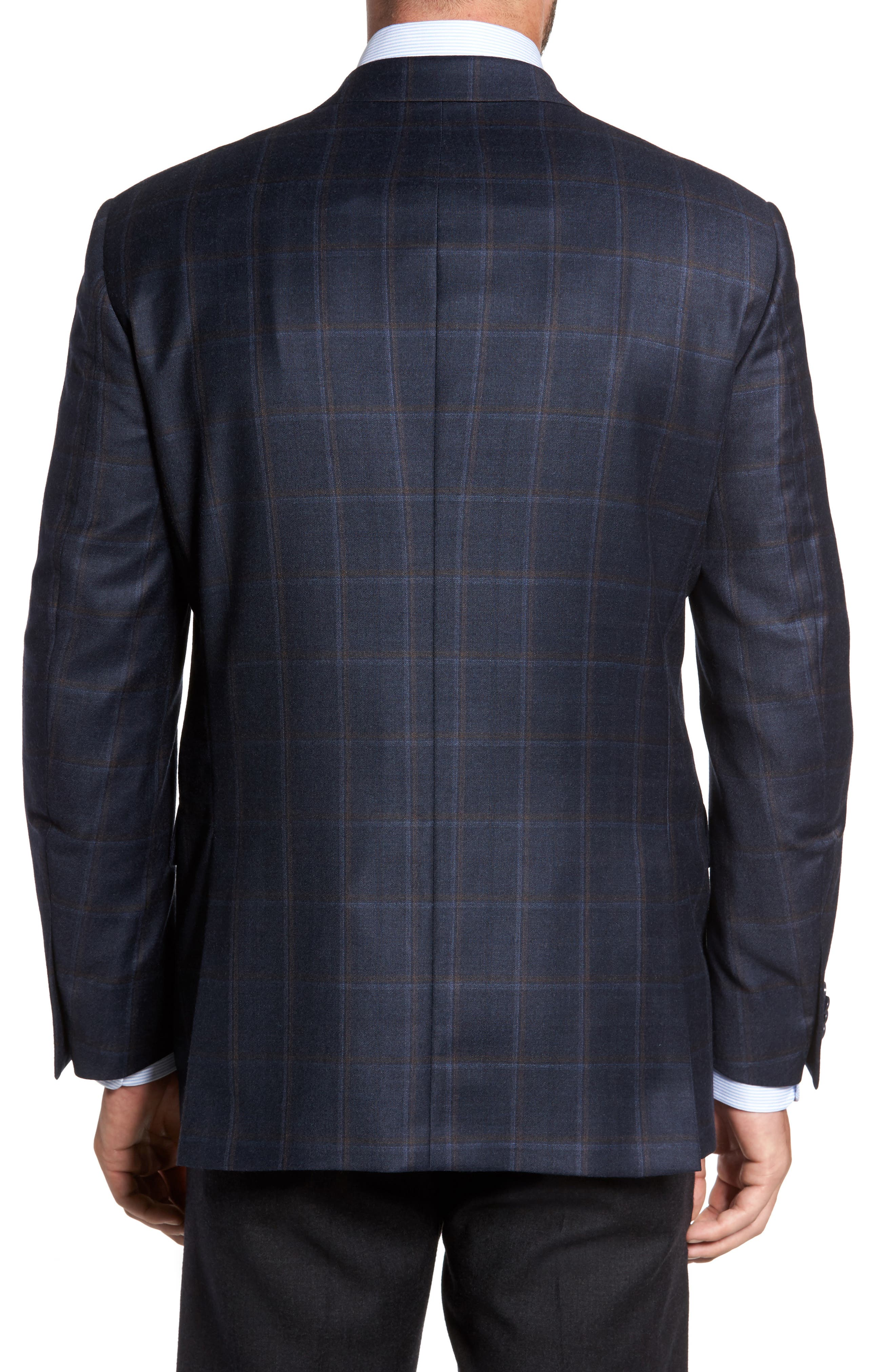 Flynn Classic Fit Plaid Wool & Cashmere Sport Coat,                             Alternate thumbnail 2, color,                             410