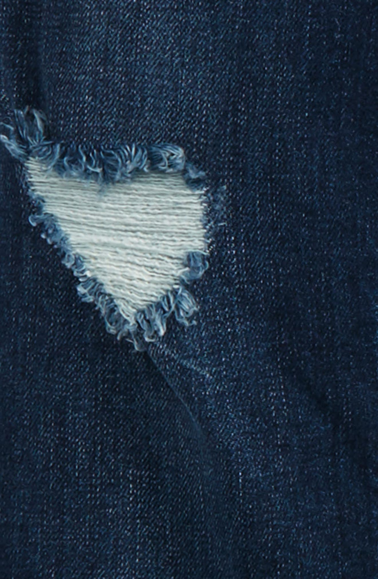 Distressed Skinny Jeans,                             Alternate thumbnail 3, color,                             400