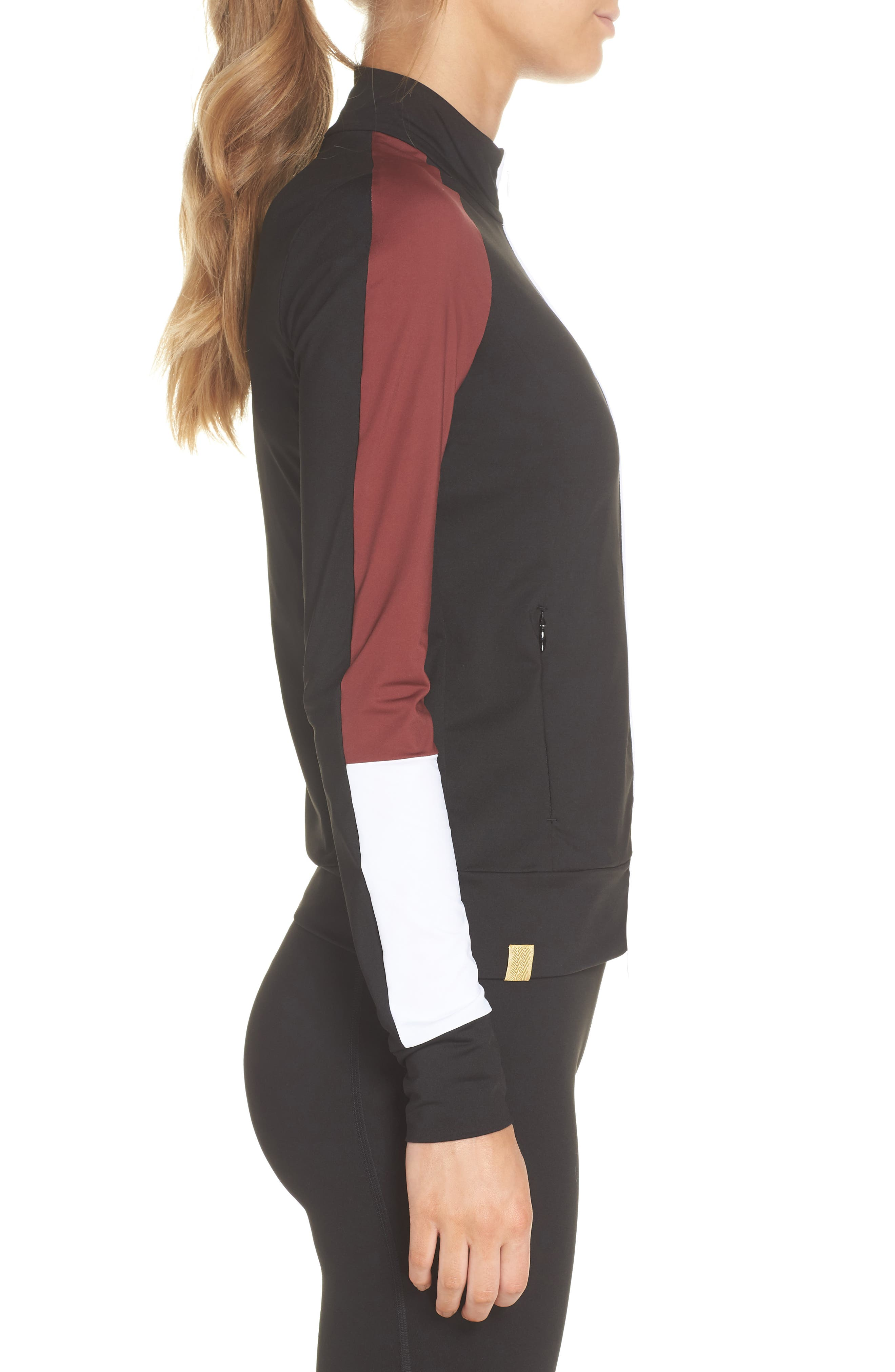 Featherweight Jacket,                             Alternate thumbnail 3, color,                             BLACK/ COCOA/ WHITE