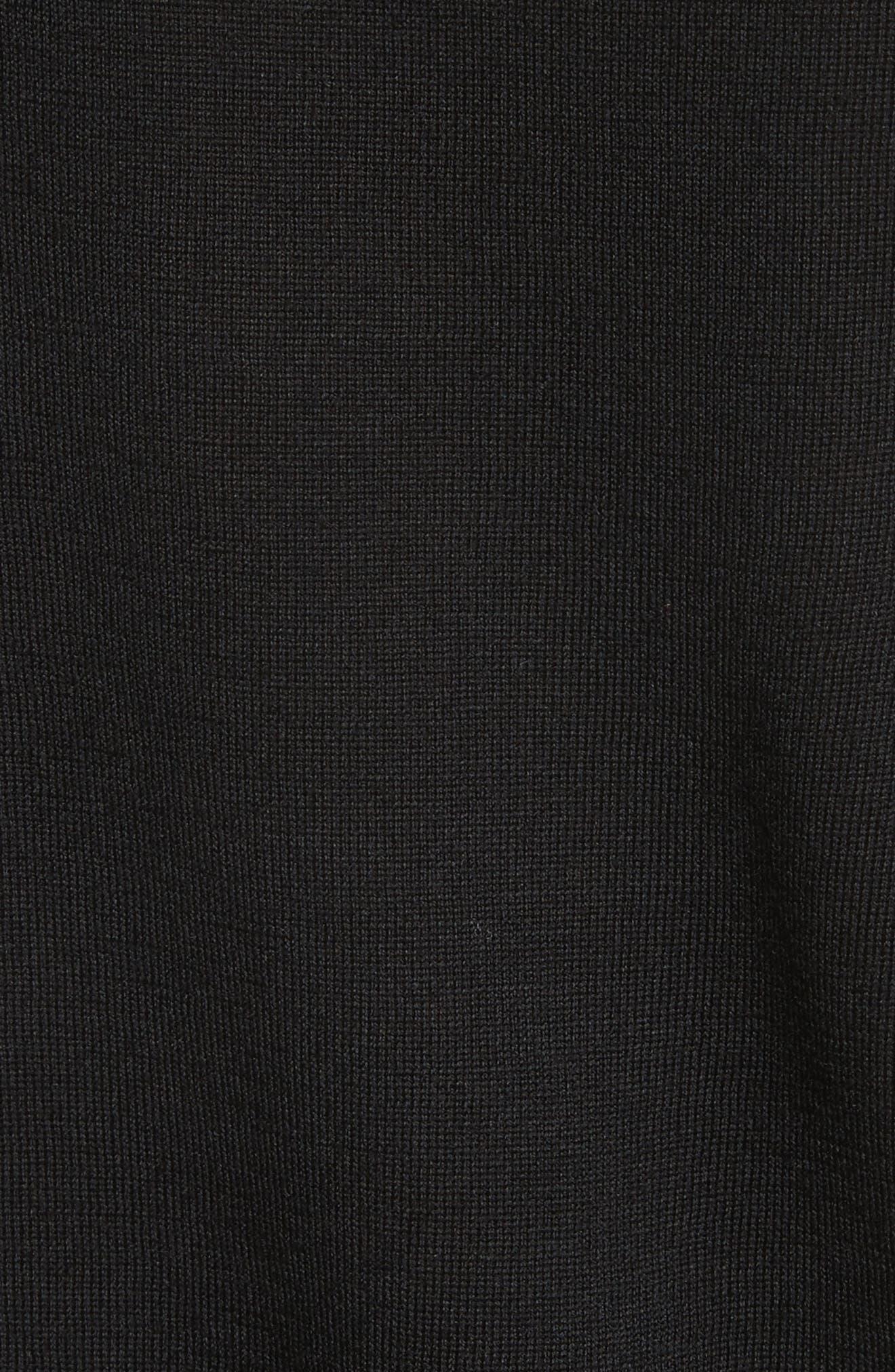 BURBERRY,                             Viar Merino Wool Sweater,                             Alternate thumbnail 5, color,                             001