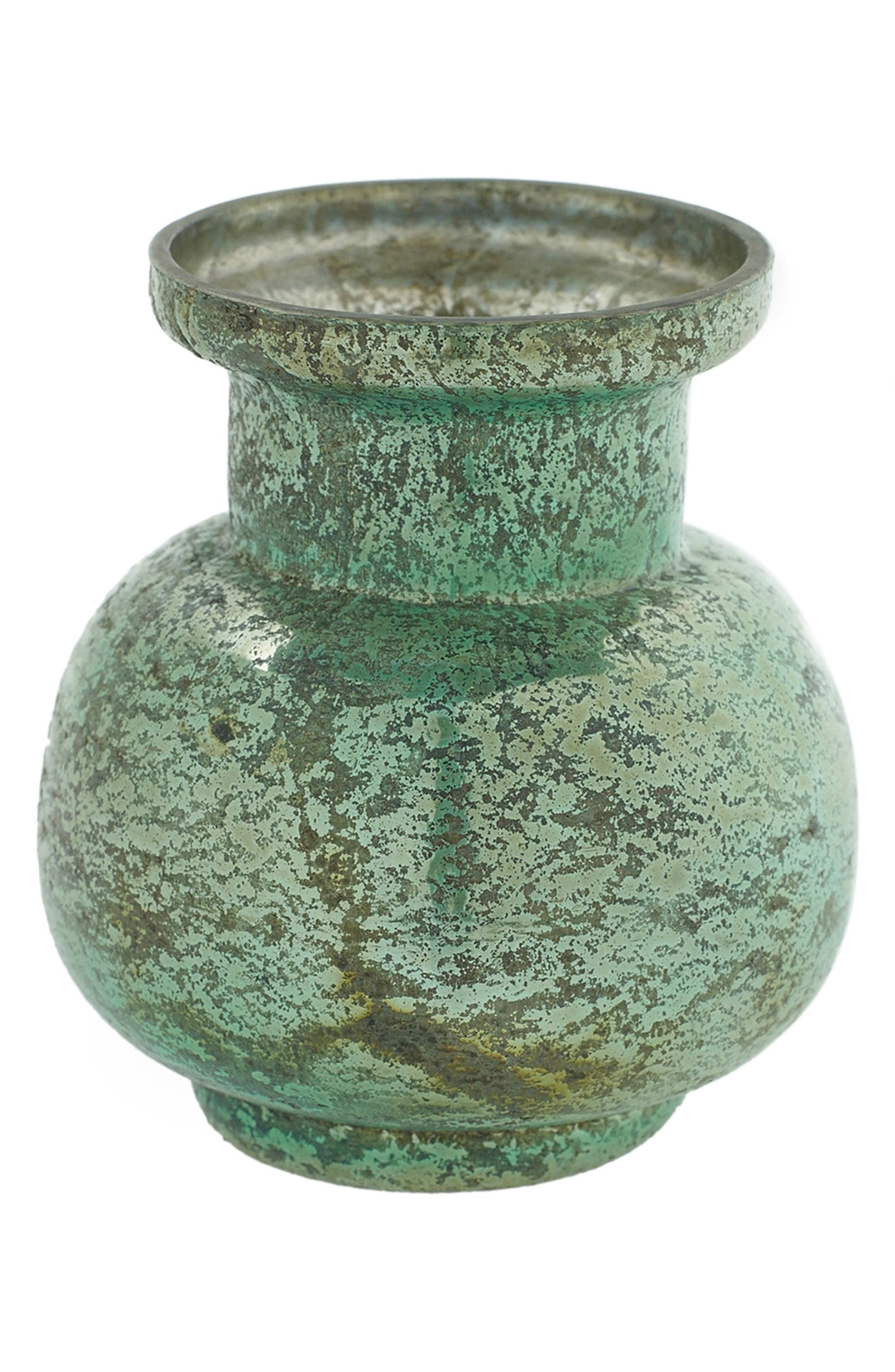Suncoo Mercury Glass Vase,                             Main thumbnail 1, color,                             440