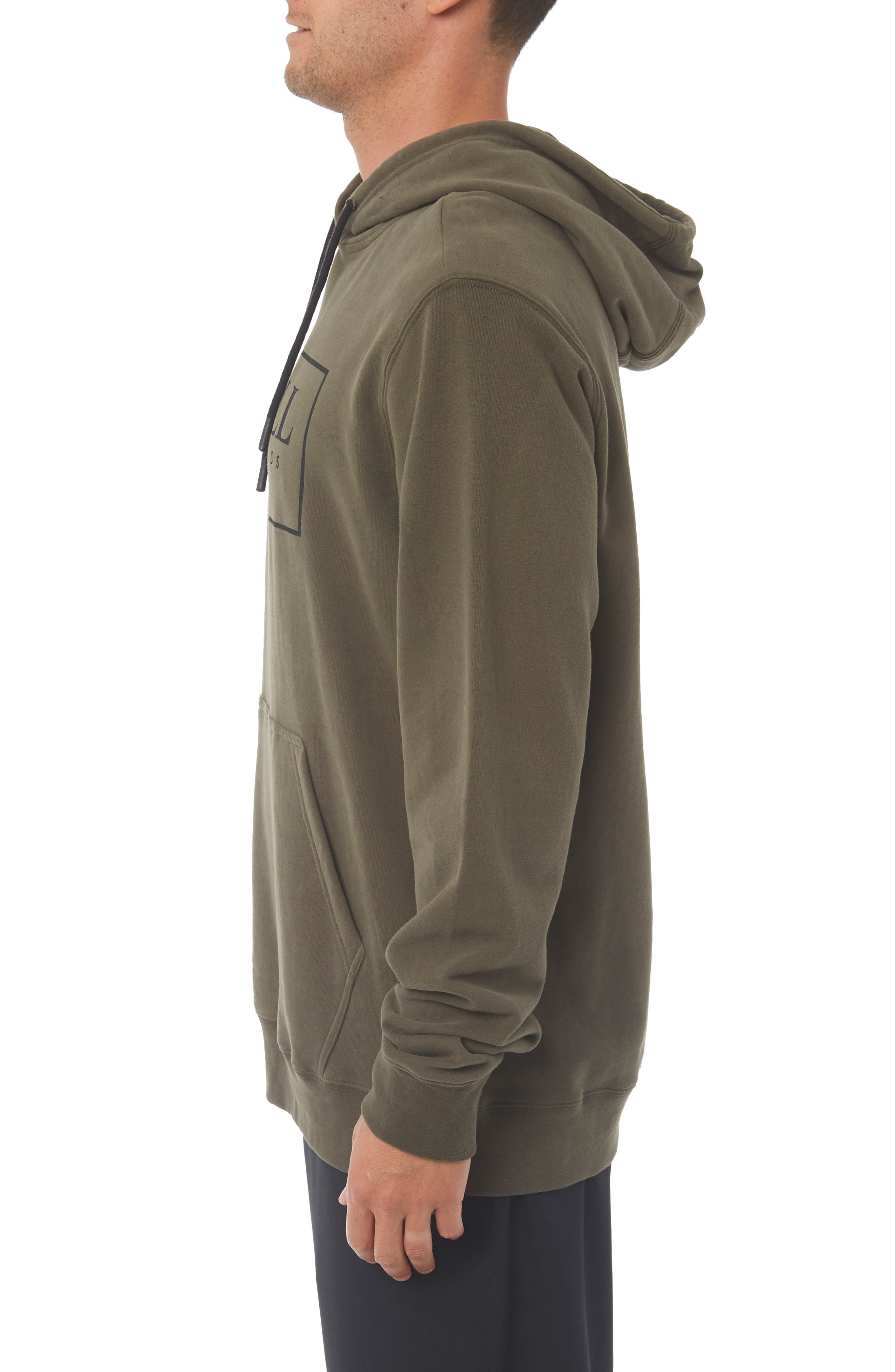 Combos Hoodie,                             Alternate thumbnail 3, color,                             MILITARY GREEN