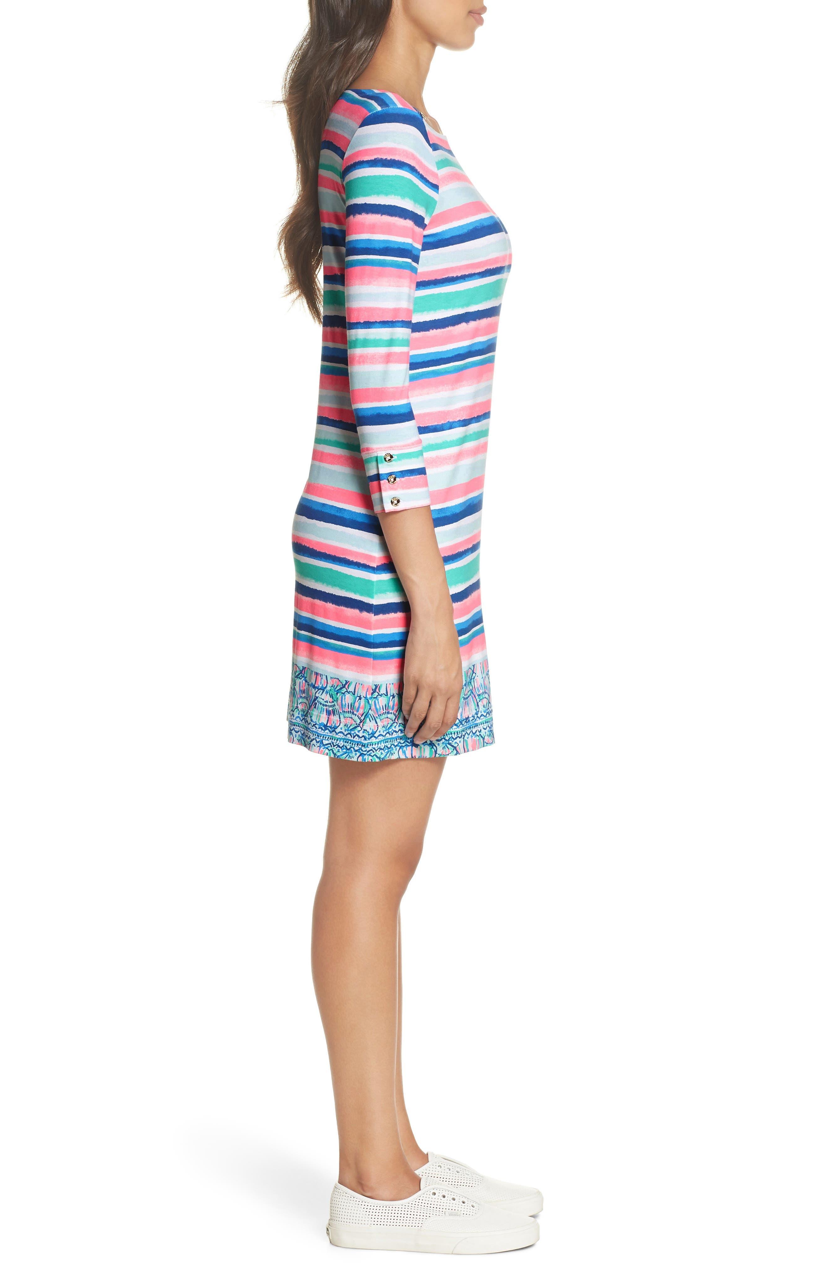 Sophie UPF 50+ Dress,                             Alternate thumbnail 3, color,                             MULTI SANDY SHELL STRIPE