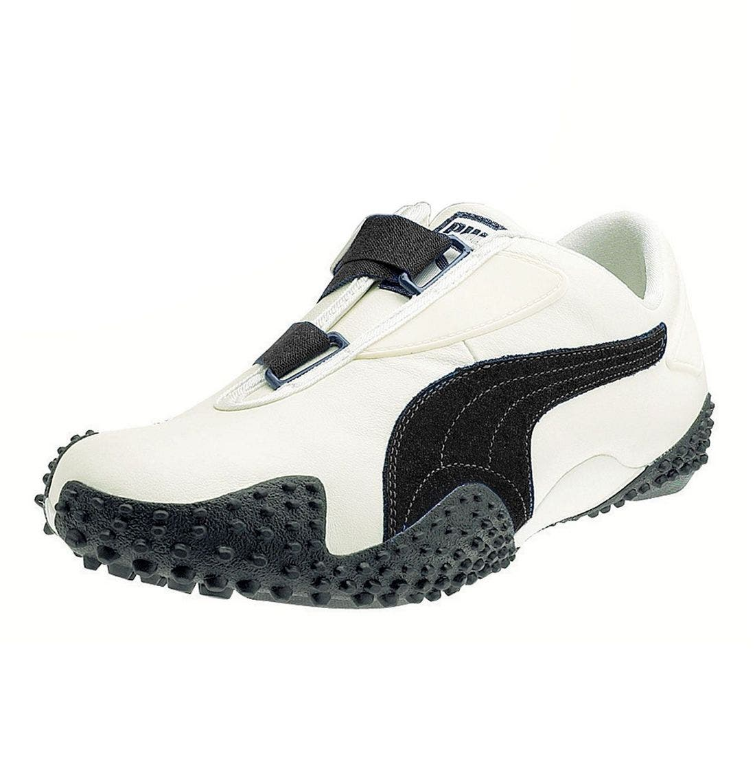 'Mostro Leather' Athletic Shoe,                             Main thumbnail 1, color,                             NAV