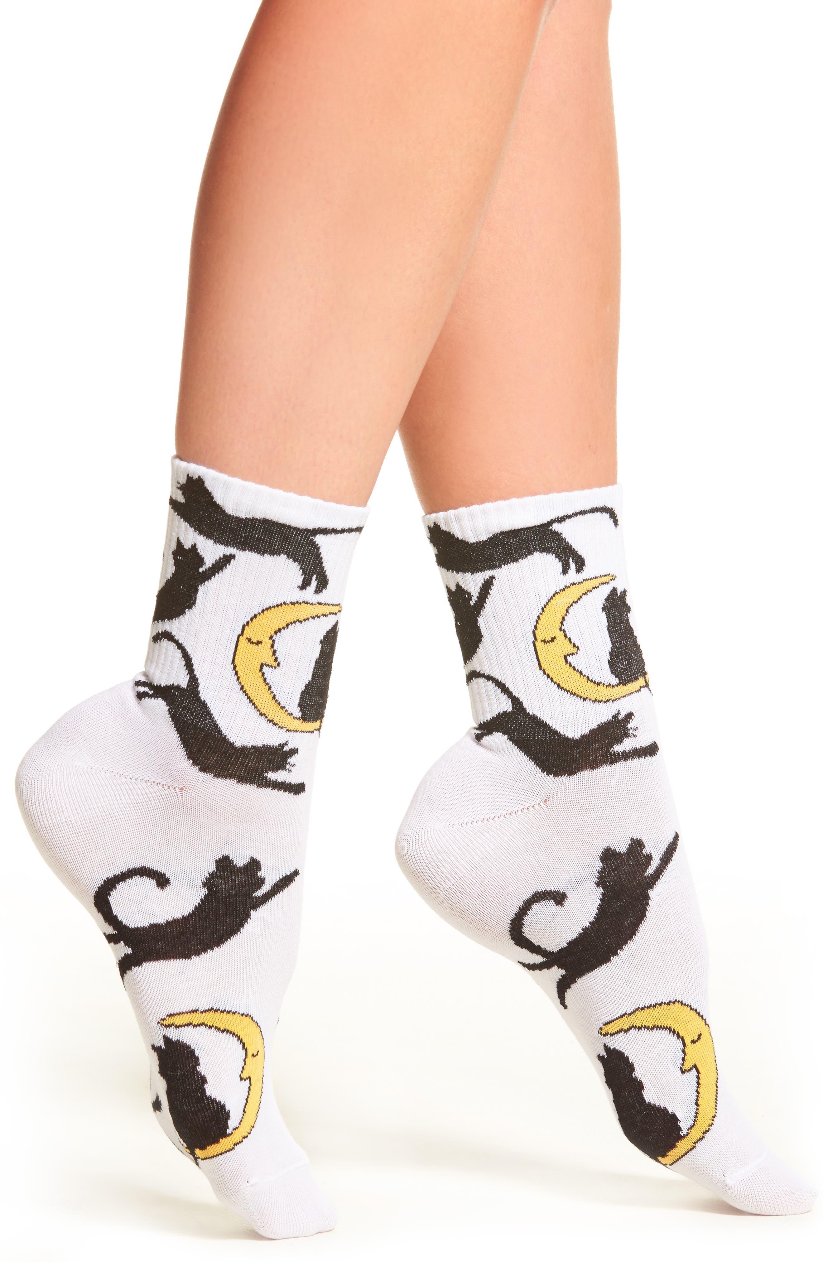 Cat Socks,                             Main thumbnail 1, color,                             100