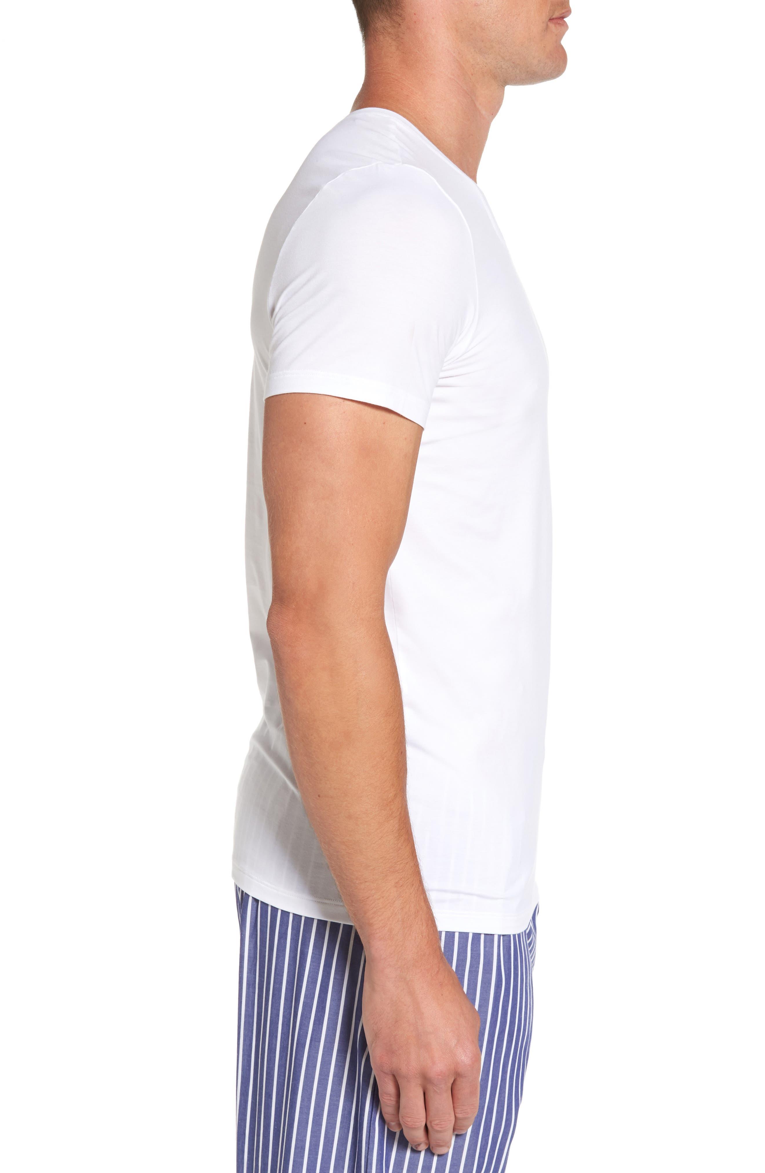 Cotton Superior Crewneck T-Shirt,                             Alternate thumbnail 3, color,
